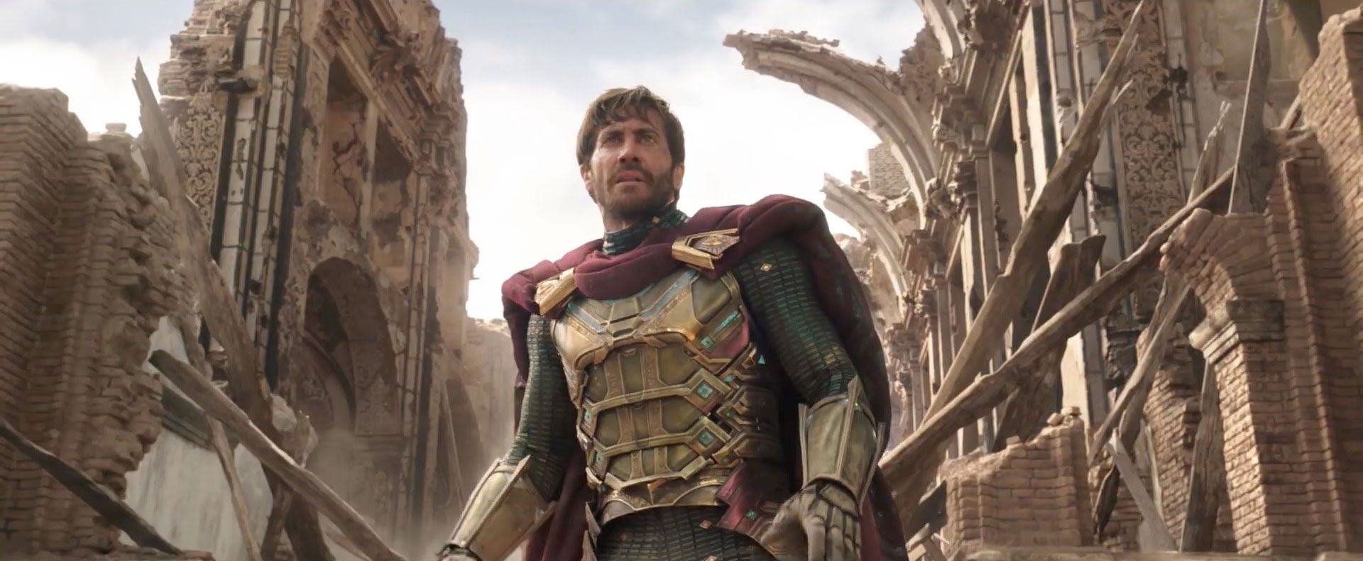 Jake Gyllenhaal as Mysterio in Spider-Man: Far From Home.