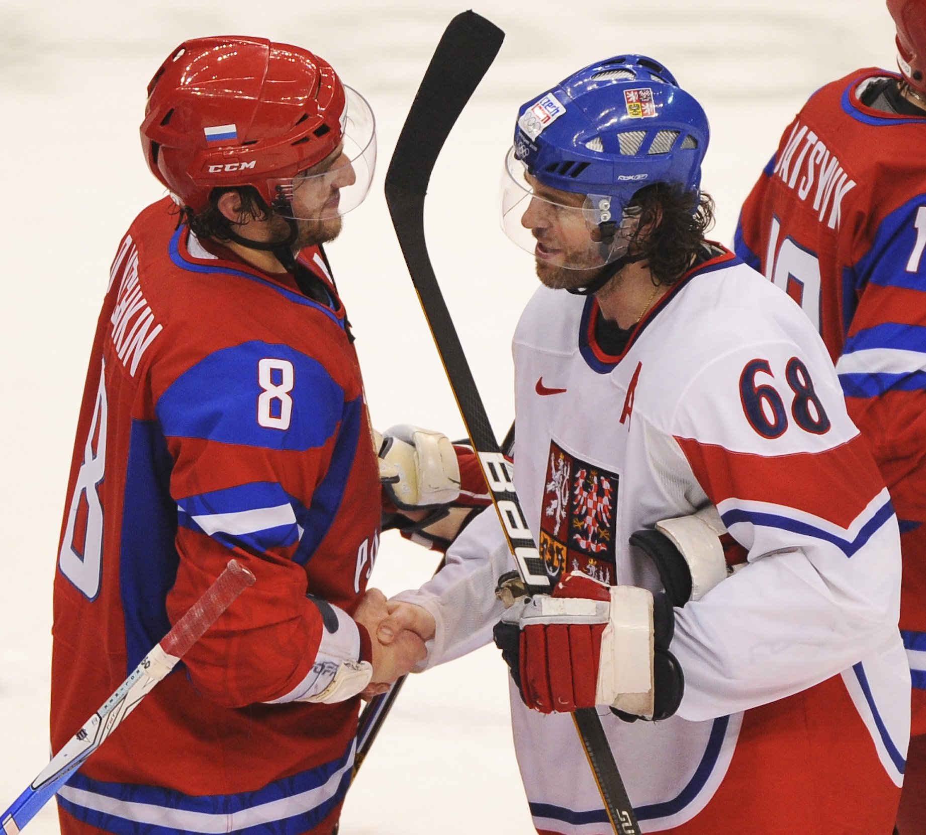 Russia And The Czech Republic Play Olympic Hockey
