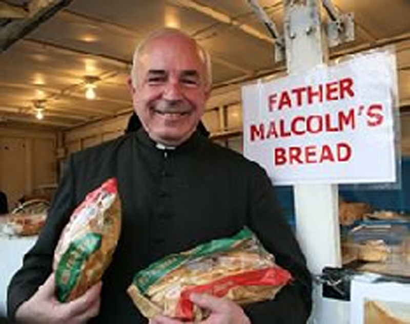 The Rev. Lawrence J. Malcolm was known for the bread and other baked goods he'd make for church events and fundraisers.