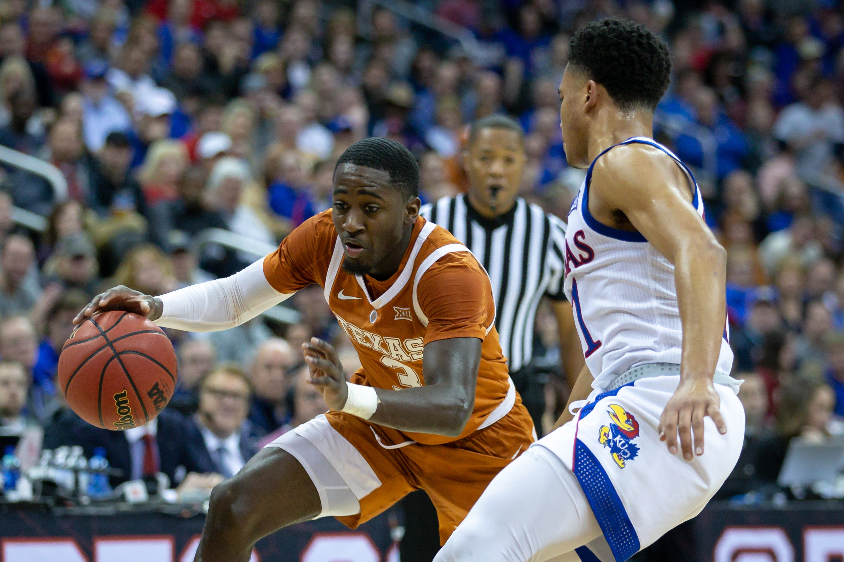 NCAA Basketball: Big 12 Conference Tournament-Kansas vs. Texas