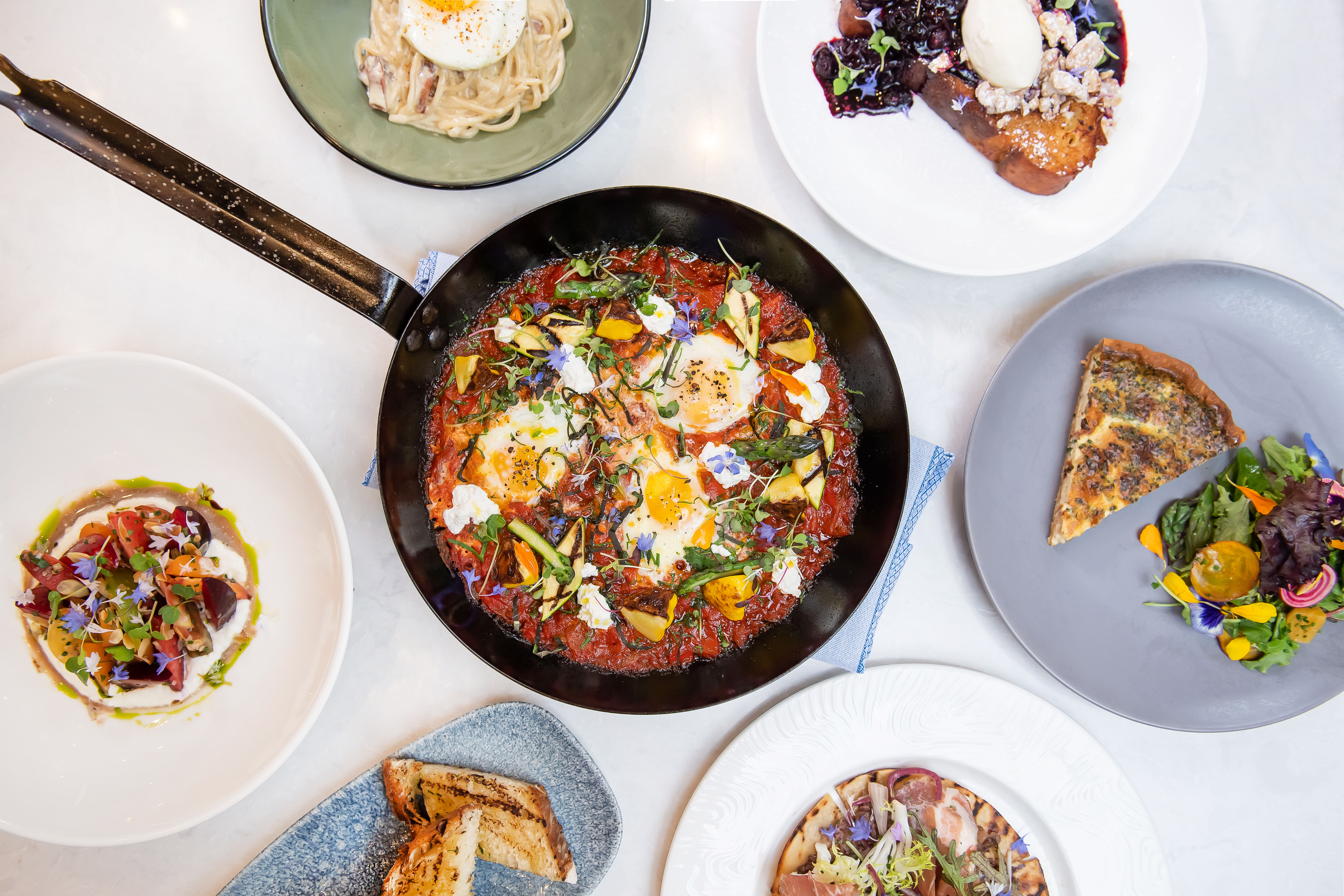 Downtown Gets a New Italian Brunch With Baked Guanciale and Eggs