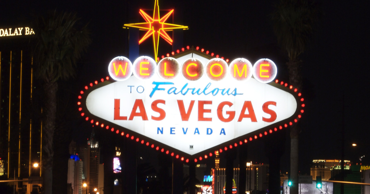 The welcome sign in Las Vegas, Nevada.