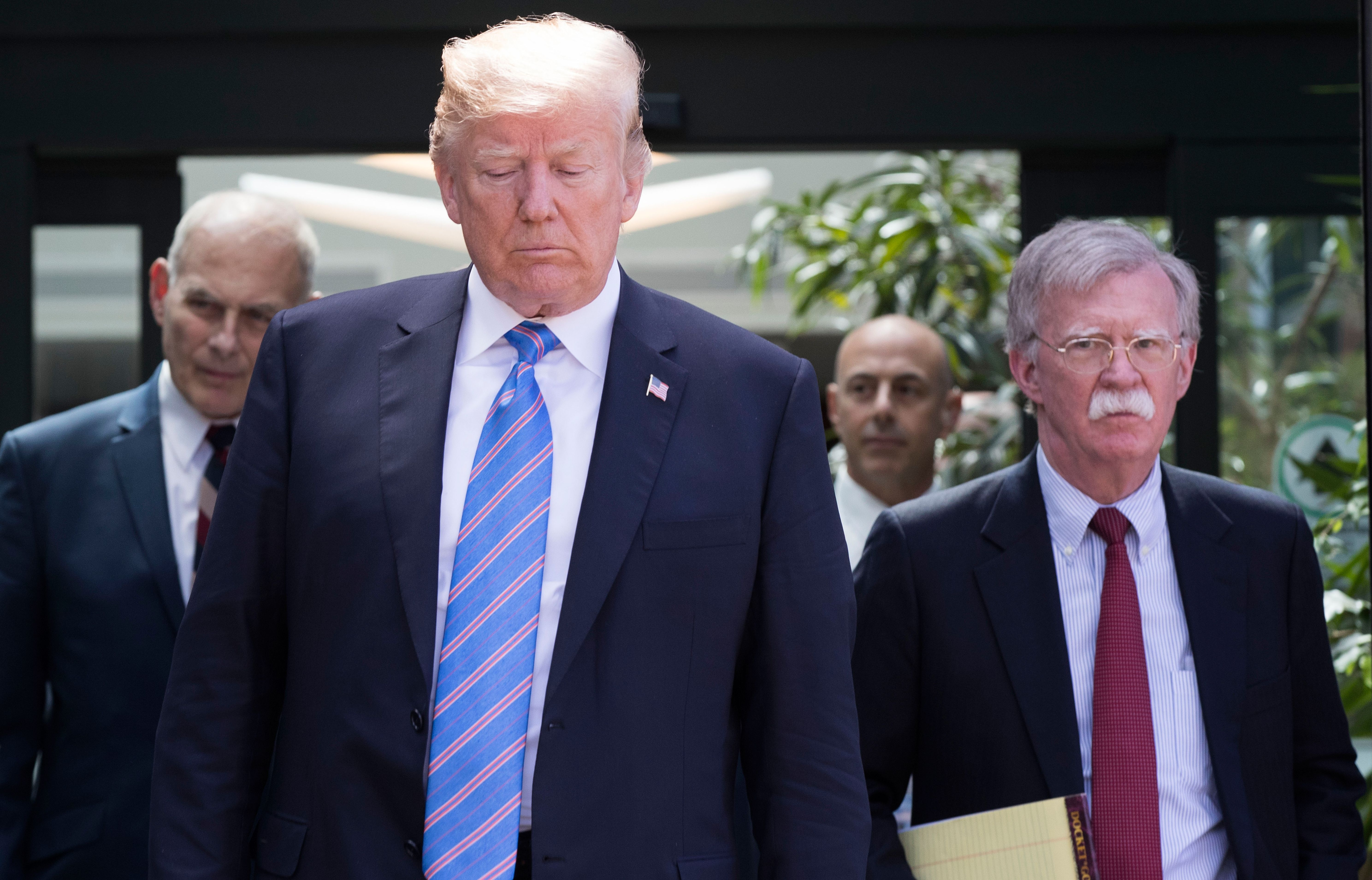 President Donald Trump, with National Security Advisor John Bolton have escalated tensions with Iran.