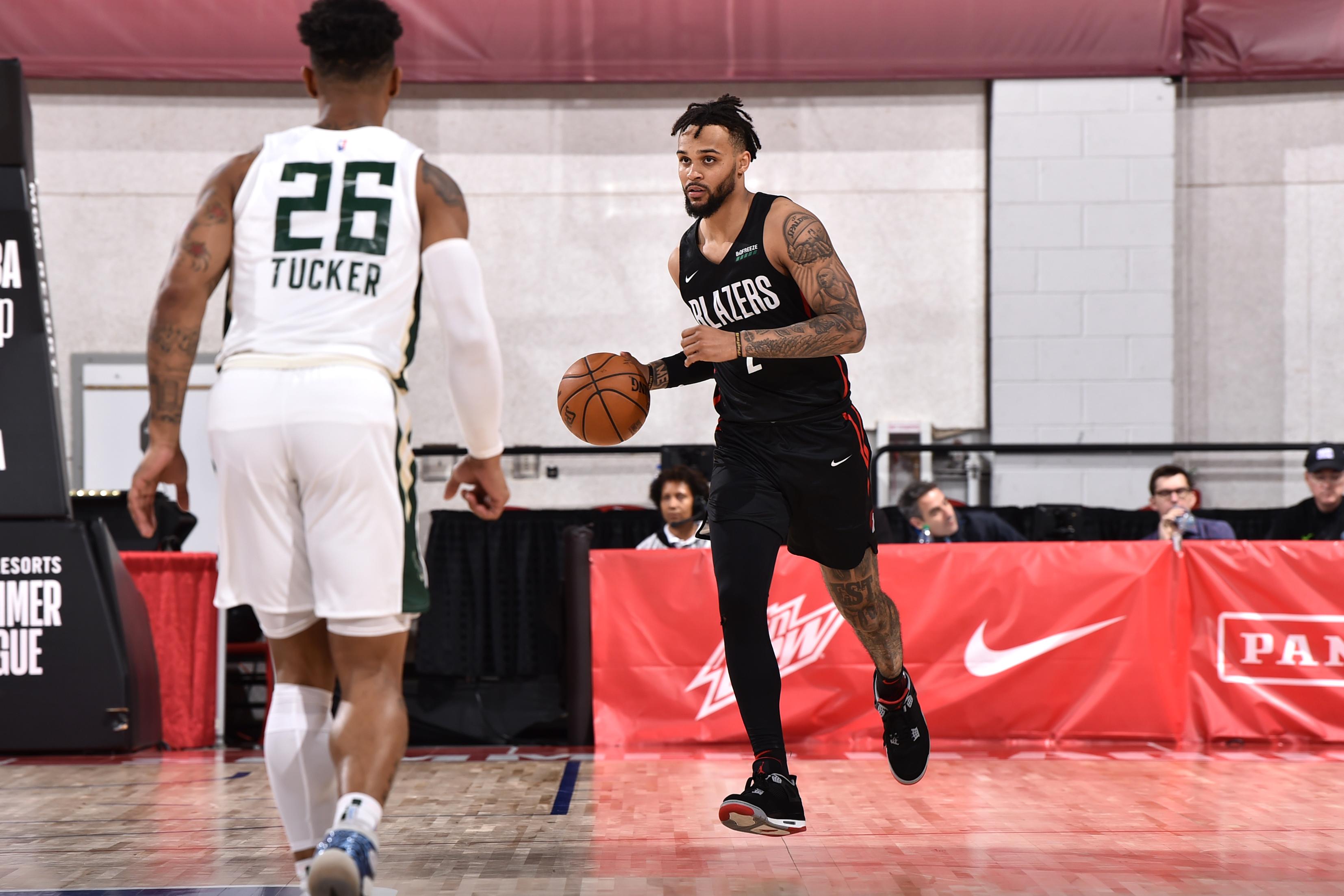 2019 Las Vegas Summer League - Day 8 - Portland Trail Blazers v Milwaukee Bucks