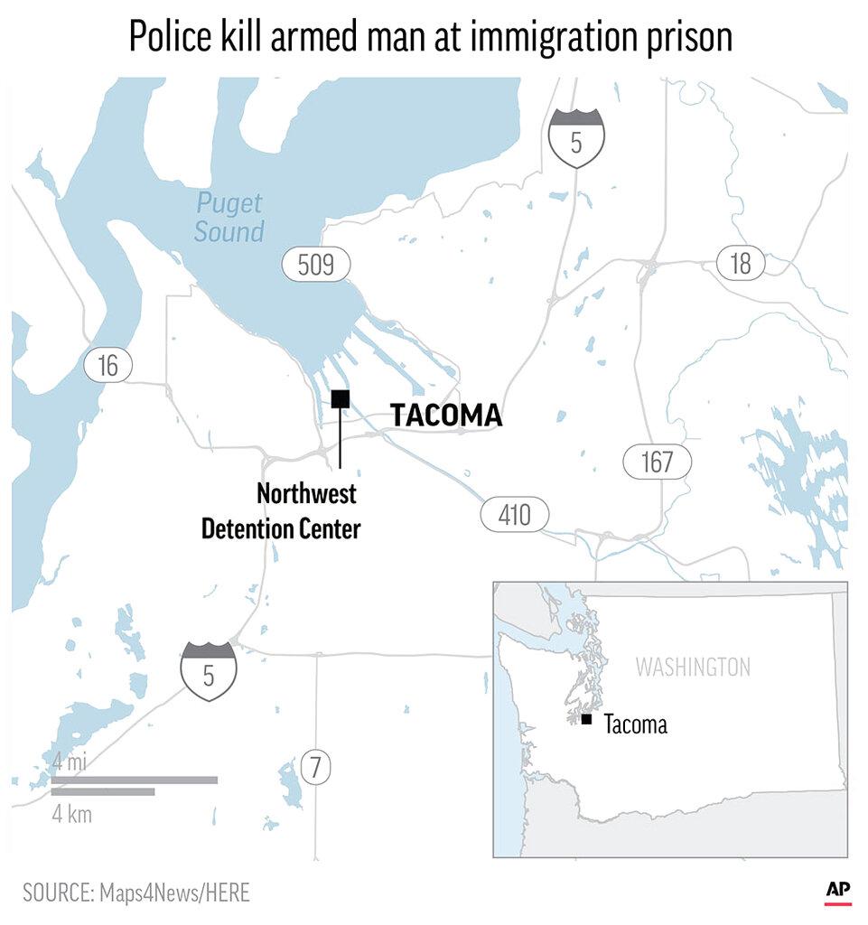 Map of Tacoma area