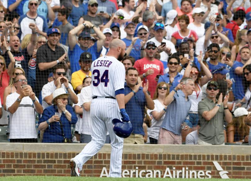 Cubs pitcher Jon Lester