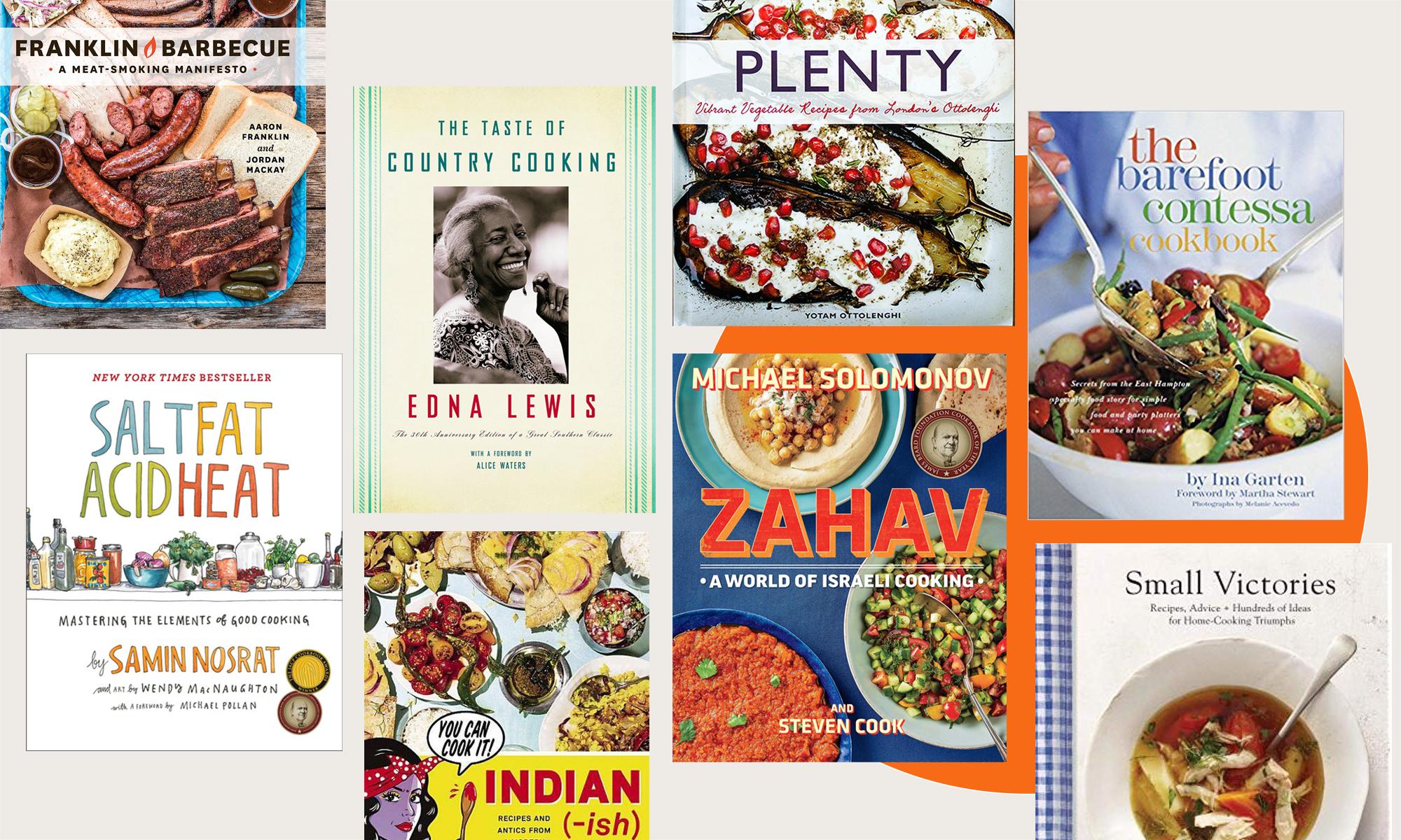 An array of cookbooks