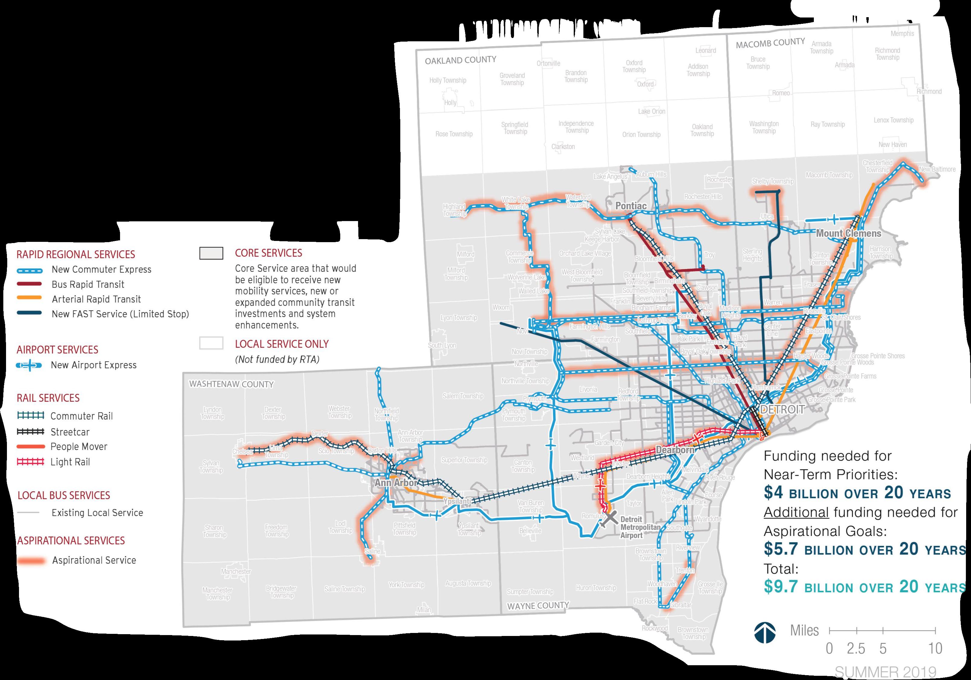 RTA updates its transit plan for Southeast Michigan