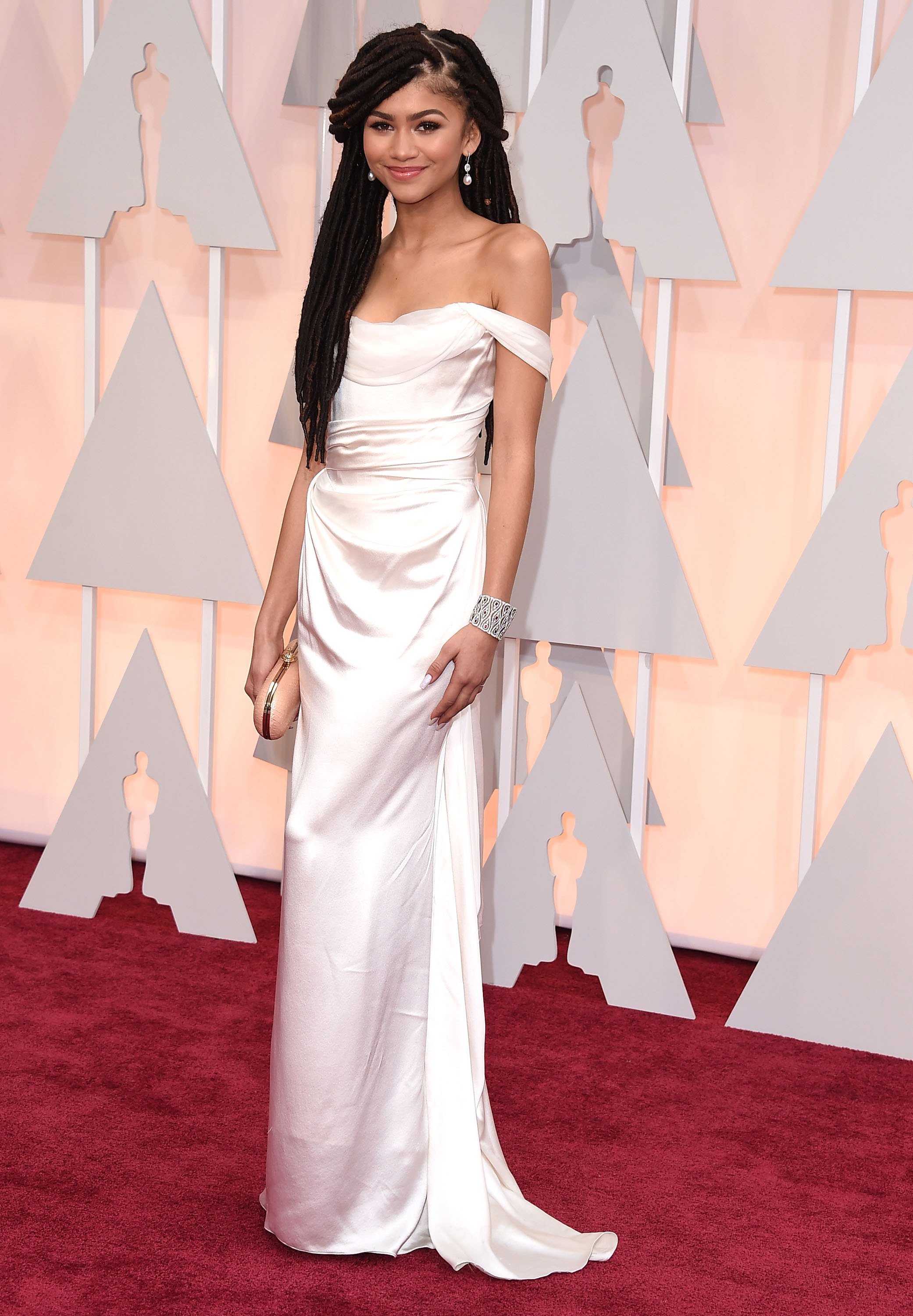 Zendaya on the red carpet at the Oscars.