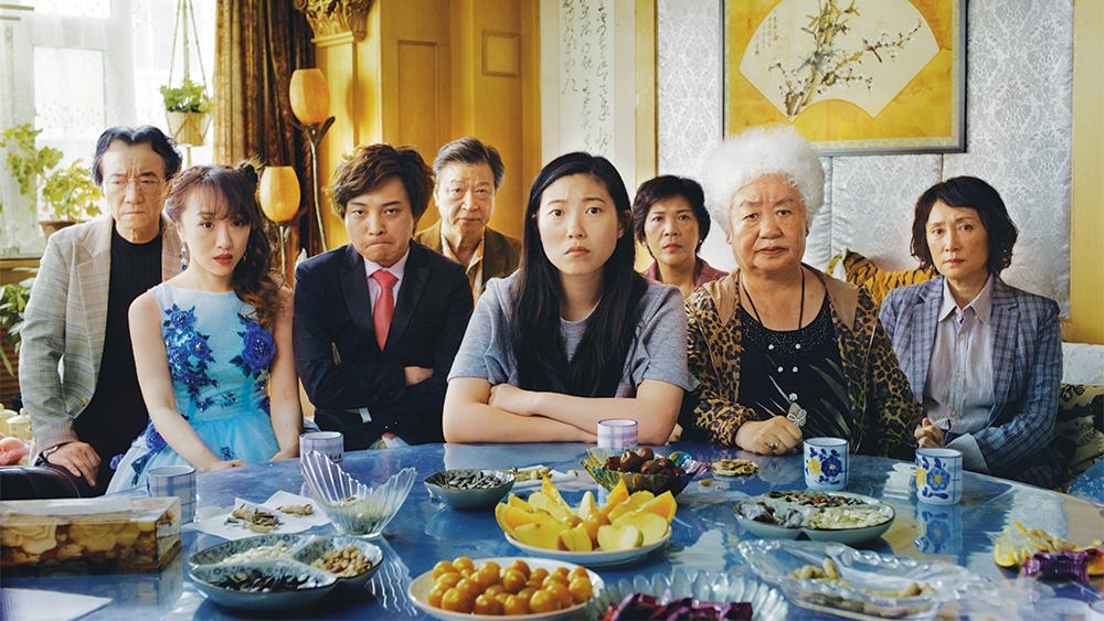 Jiang Yongbo, Aoi Mizuhara, Chen Han, Tzi Ma, Awkwafina, Li Xiang, Lu Hong, and Zhao Shuzhen in The Farewell.