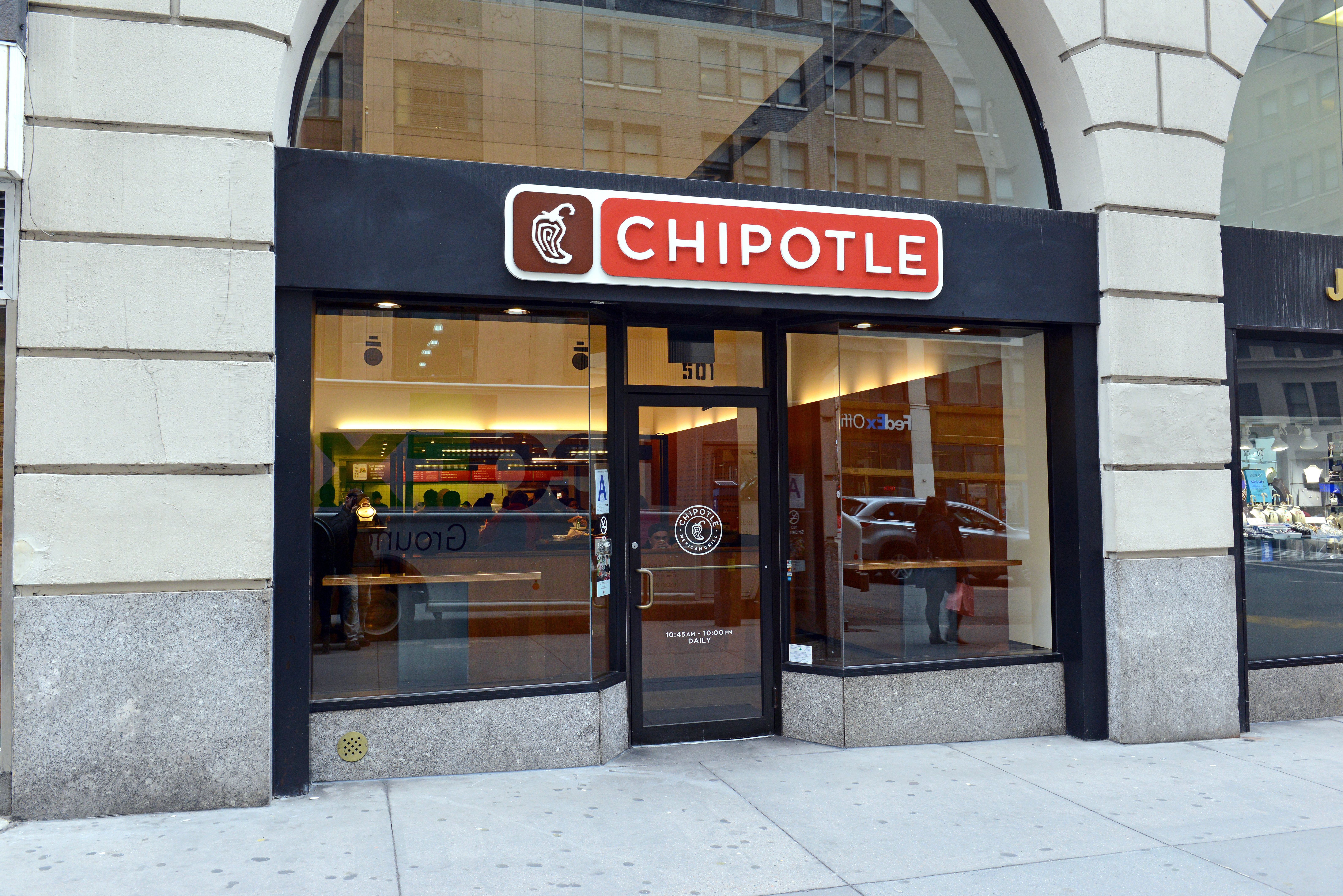 exterior of chipotle store