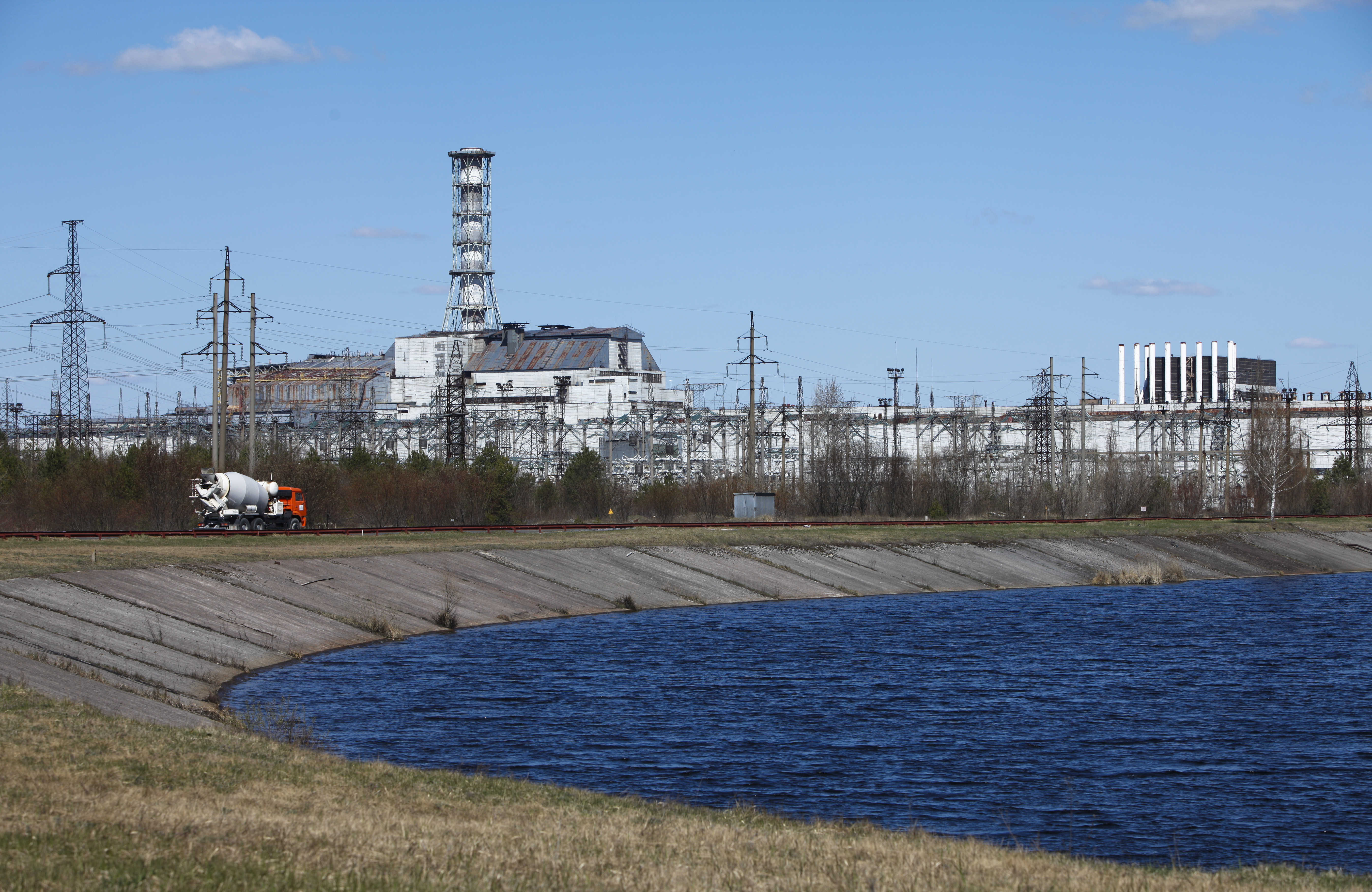 The building of Reactor No. 4 at the Chernobyl nuclear power plant is seen in Chernobyl, Ukraine, Wednesday, April 20, 2011.