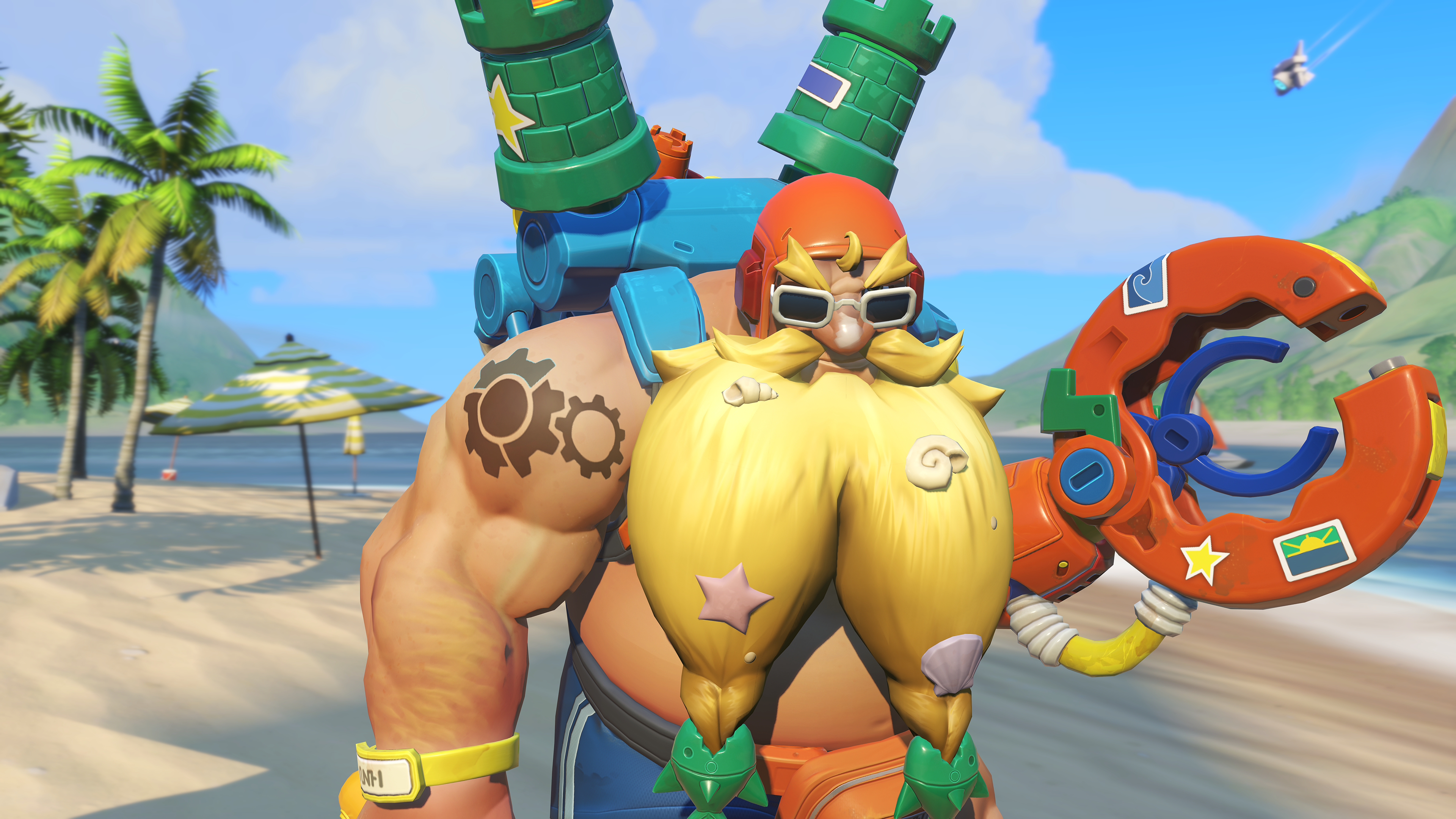 Torbjorn's Summer Games 2019 skin in Overwatch, Surf N Splash Torbjorn
