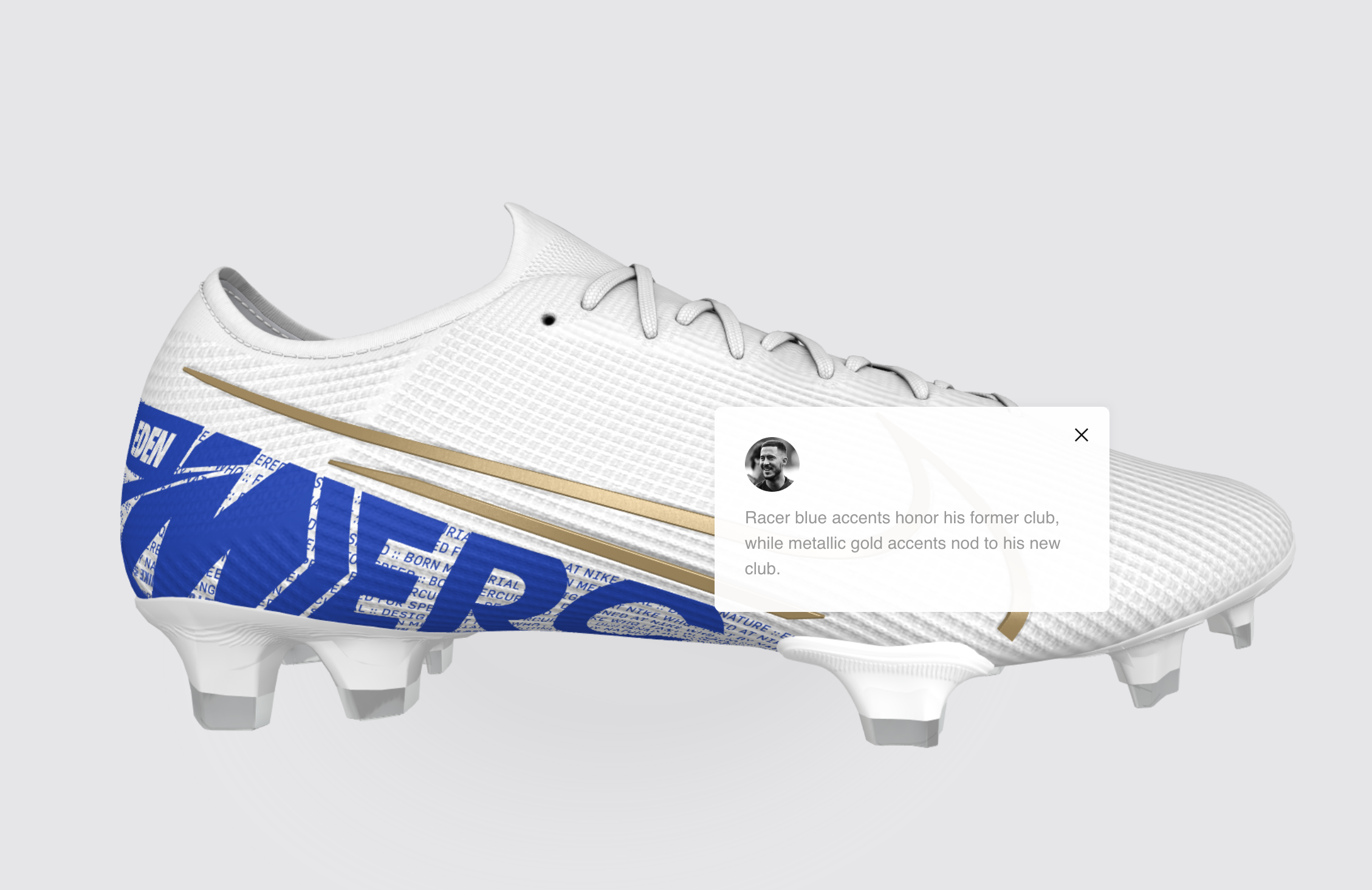 Real Madrid's Eden Hazard pays tribute to Chelsea with new custom Nike boots