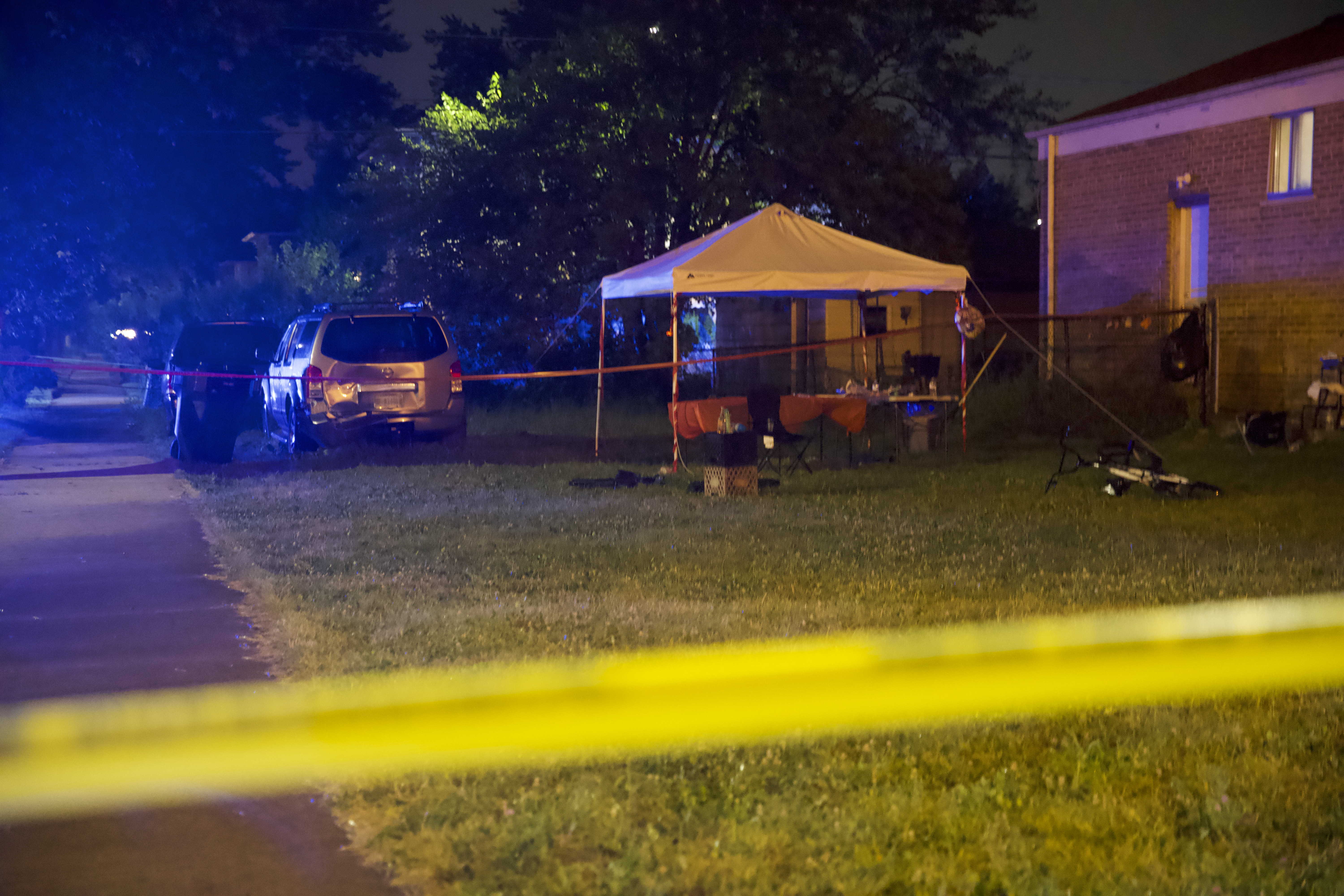 Chicago police investigate a fatal shooting July 16 in the 1000 block of West 115th Street.