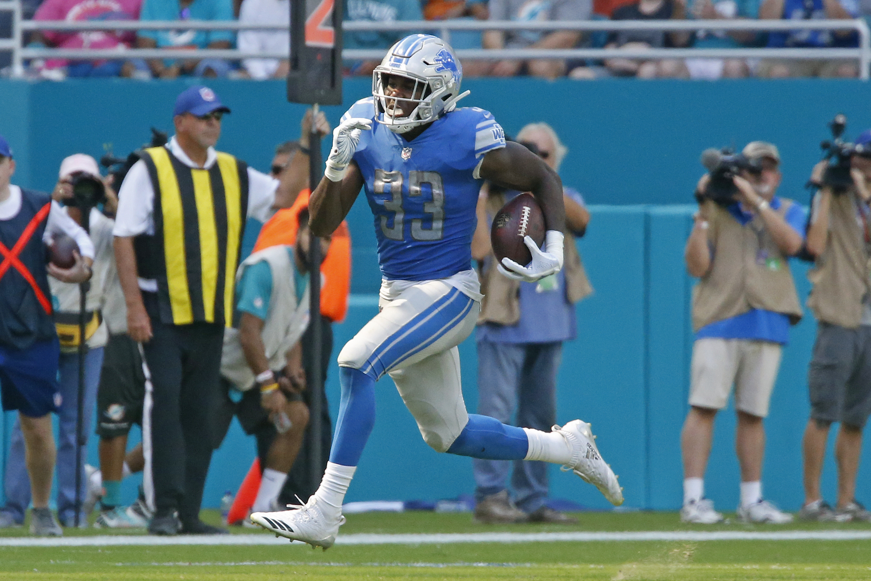 brand new 8f5cf a076c 2018 Detroit Lions roster review: What is Kerryon Johnson's ...