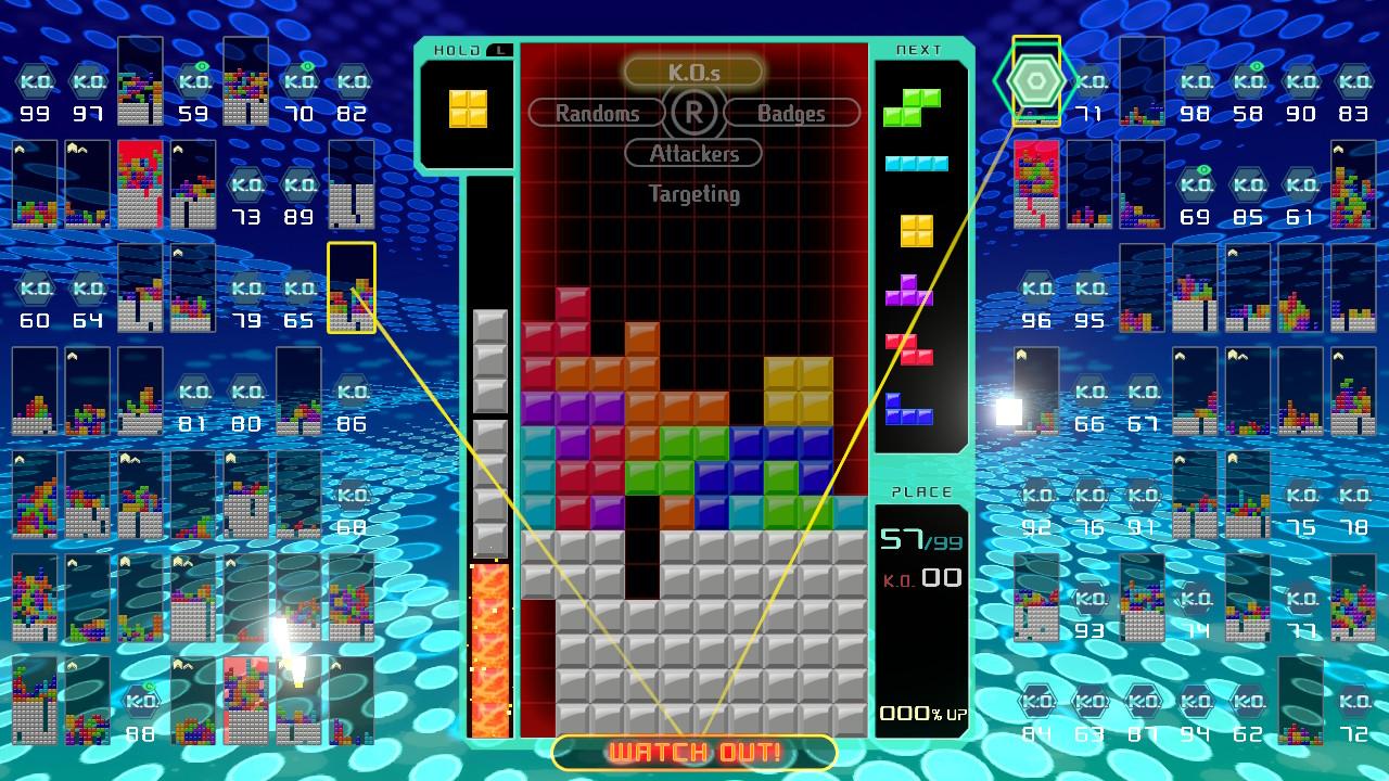 Choosing attack targets in Tetris 99