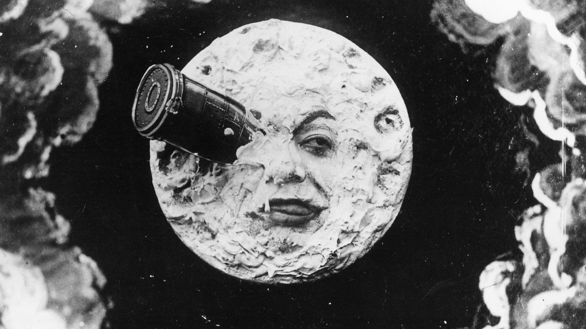 A scene from Georges Méliès's 1902 film A Trip to the Moon