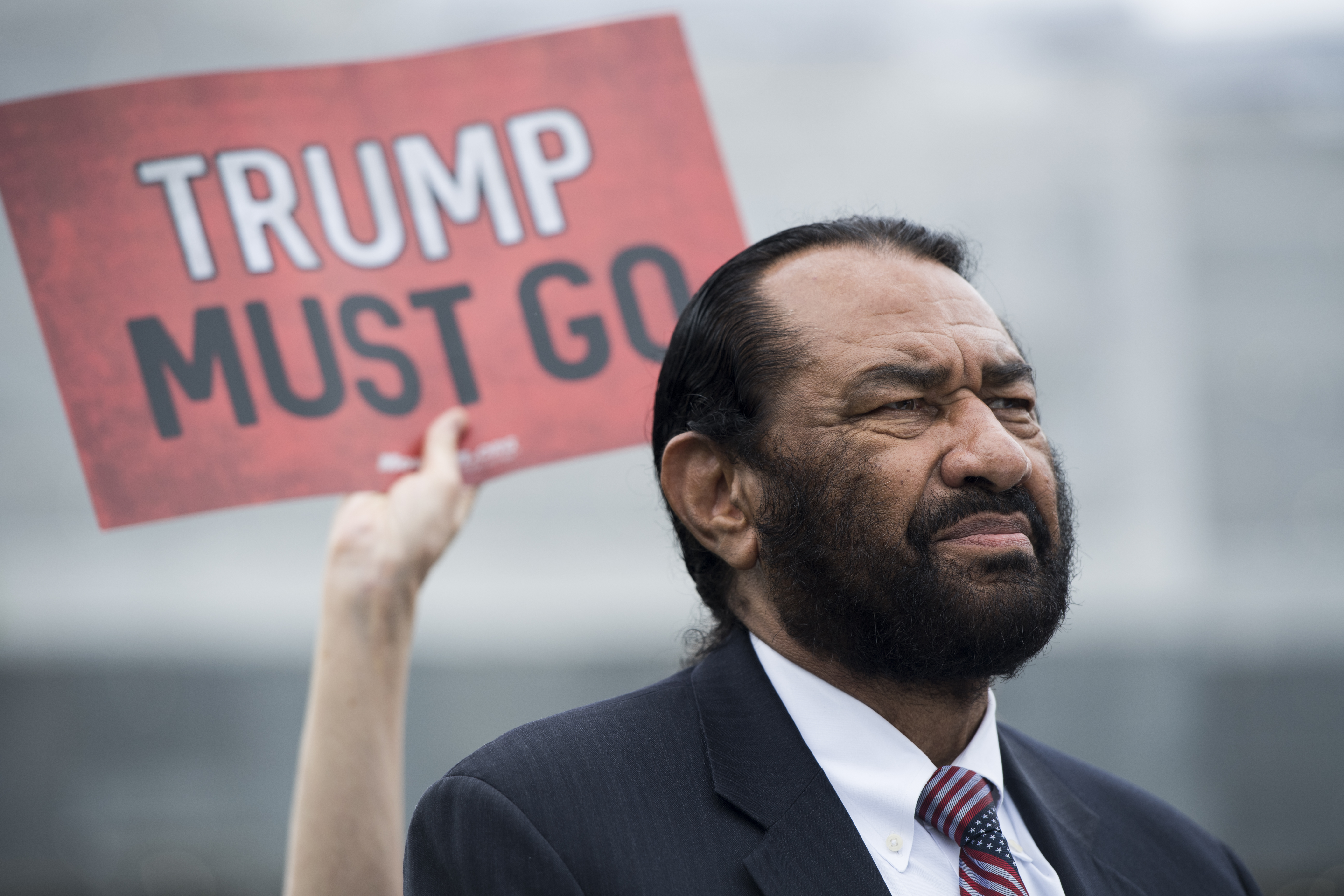Rep. Al Green, D-Texas, participates in the event for coalition of advocacy groups delivering over ten million petition signatures to Congress on Thursday, May 9, 2019, urging the U.S. House of Representatives to start impeachment proceedings against Dona