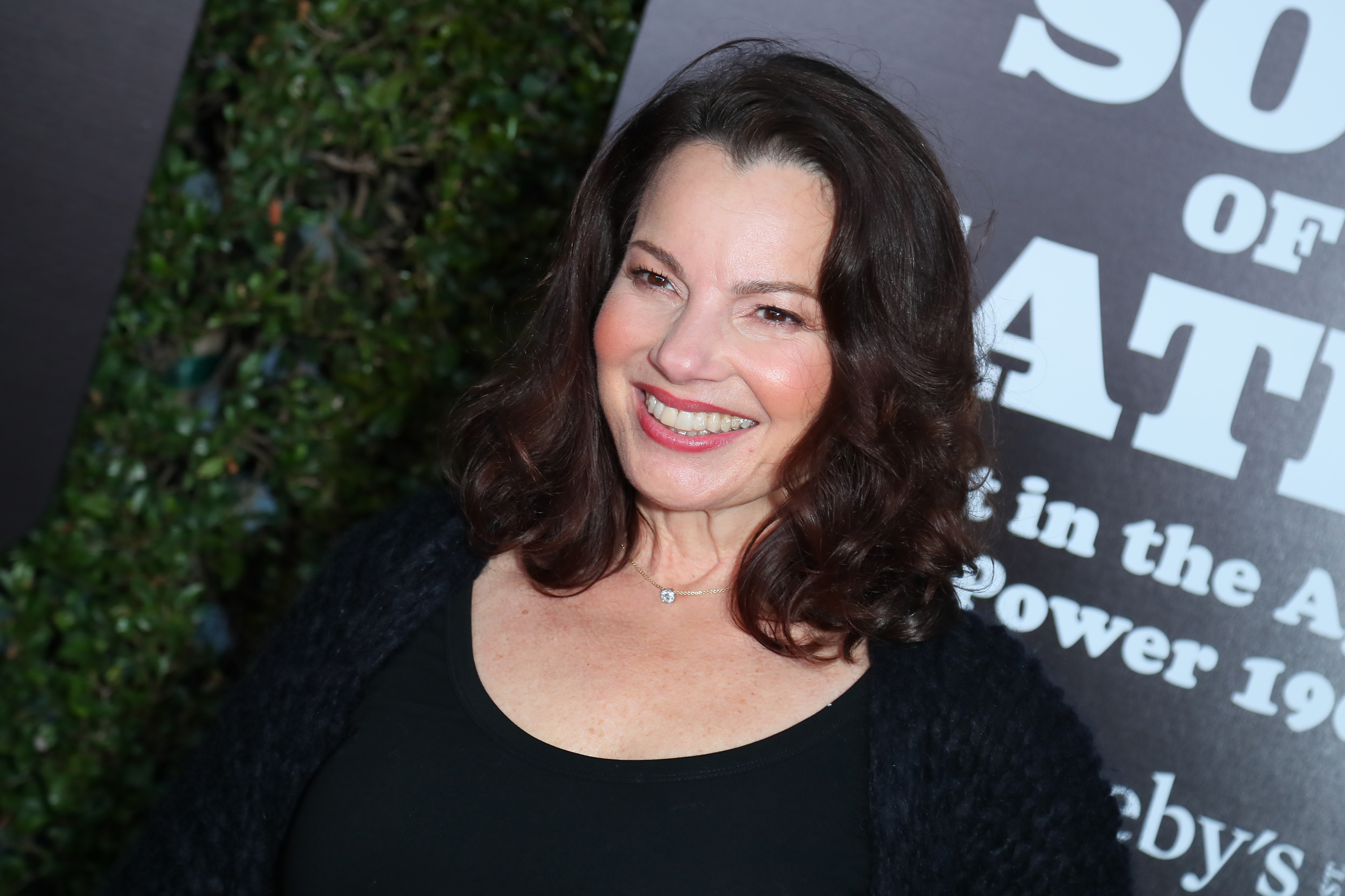 """Fran Drescher attends The Broad Hosts West Coast Debut Of """"Soul Of A Nation: Art In the Age Of Black Power 1963-1983"""" at The Broad on March 22, 2019 in Los Angeles, California."""