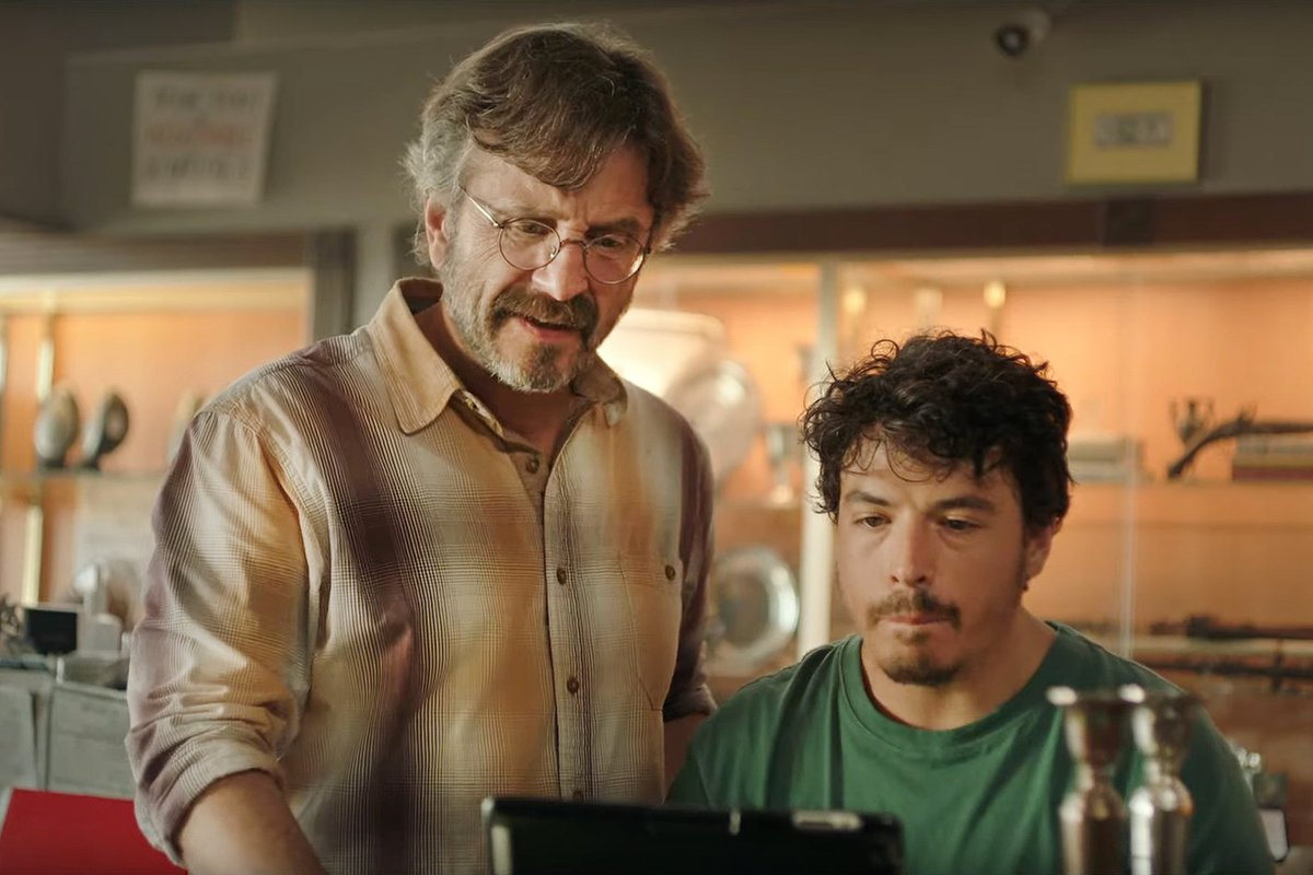 Marc Maron and Jon Bass in Lynn Shelton's new movie, Sword of Trust.