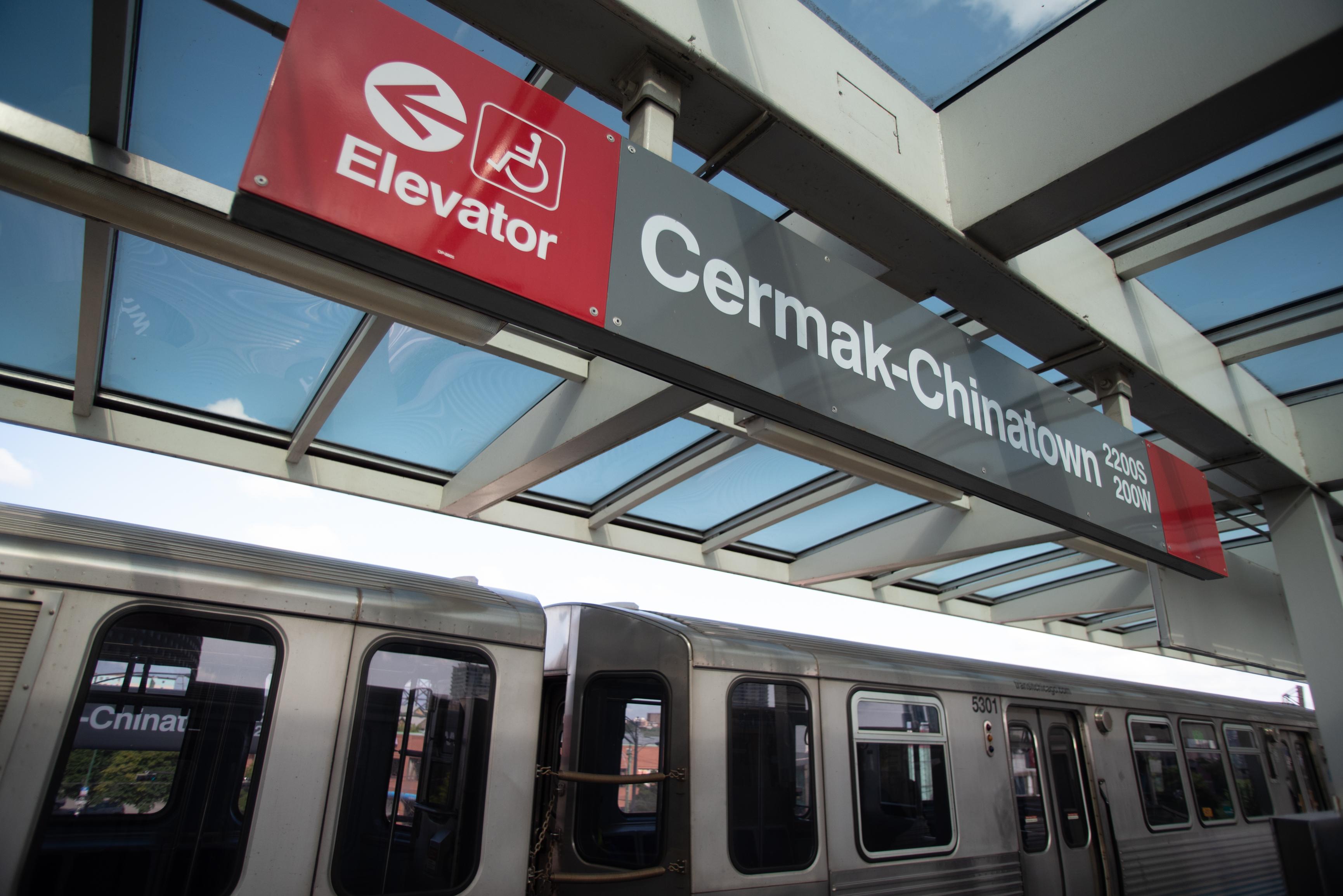 The Cermak-Chinatown CTA stop. | Colin Boyle/Sun-Times