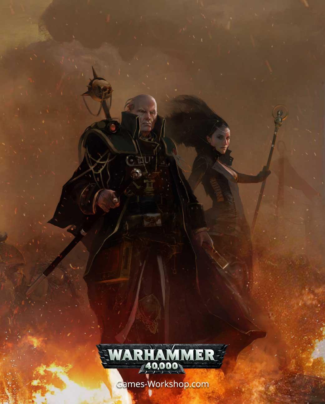artwork of Warhammer 40,000 character Gregor Eisenhorn