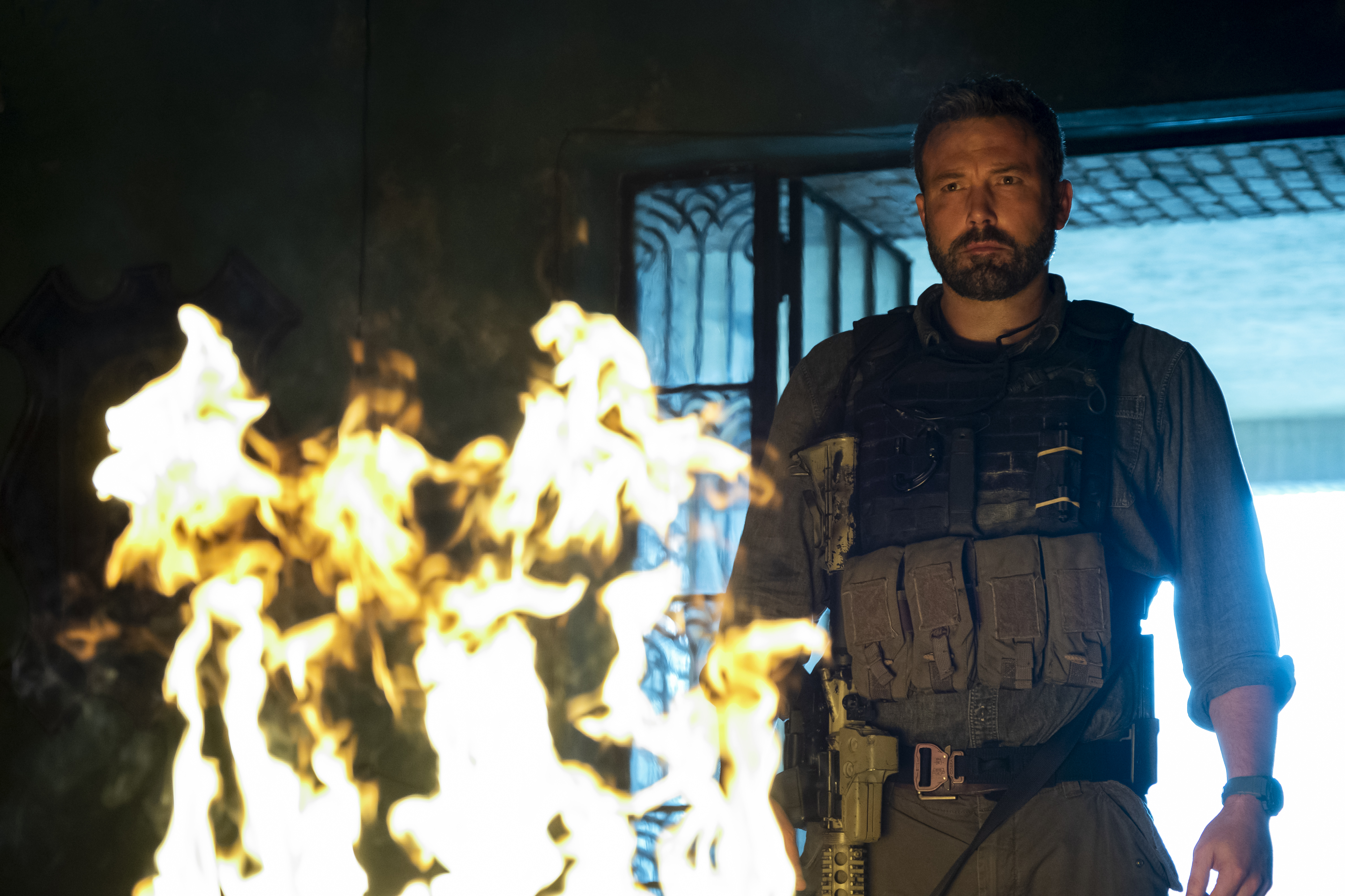 "Ben Affleck in Netflix's ""Triple Frontier."""