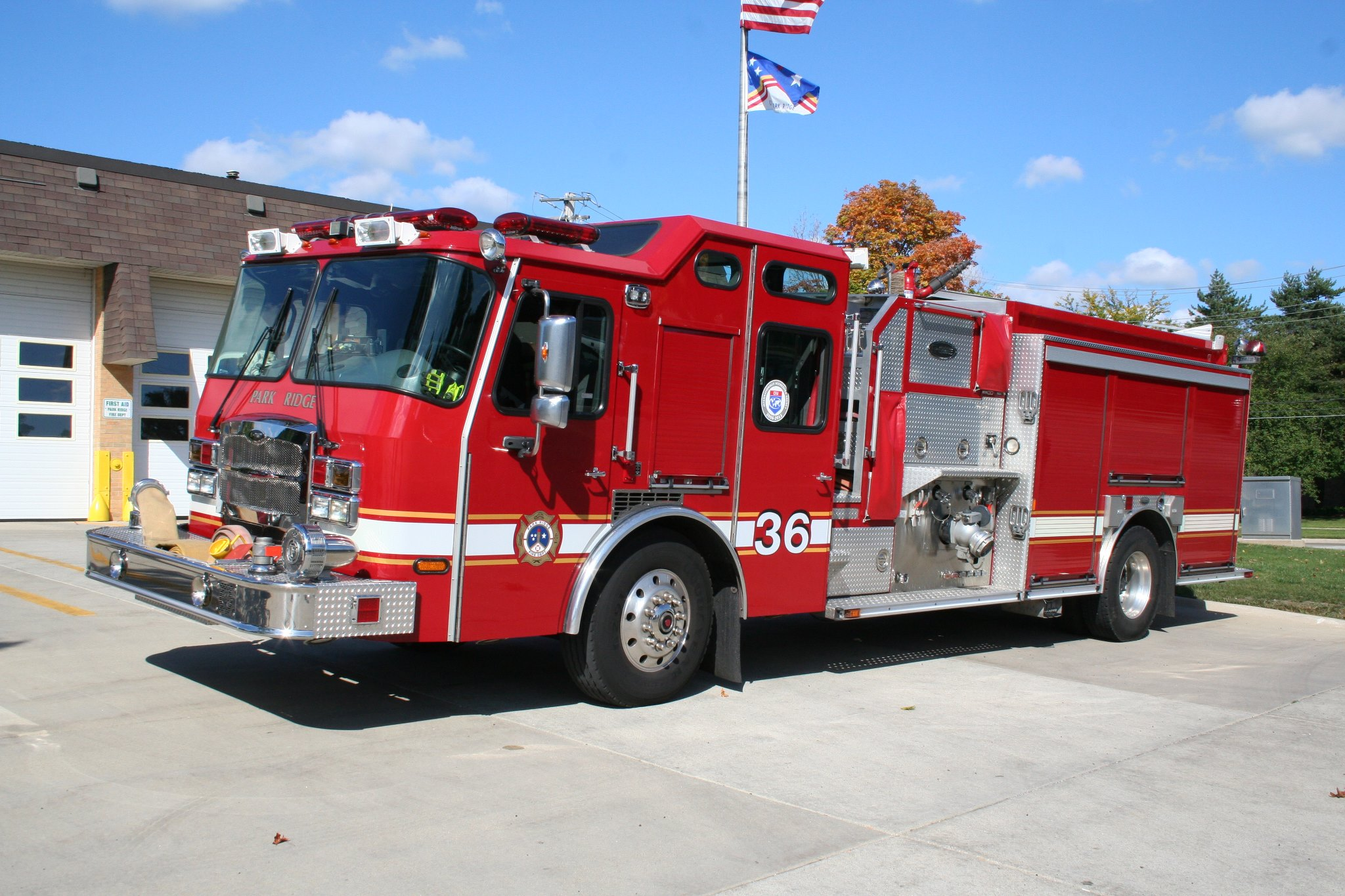 A fire injured two people in Park Ridge.