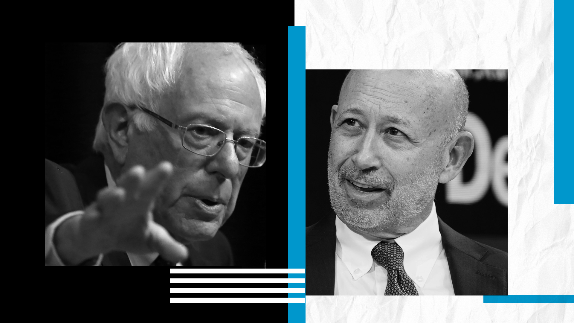 Bernie Sanders and Lloyd Blankfein