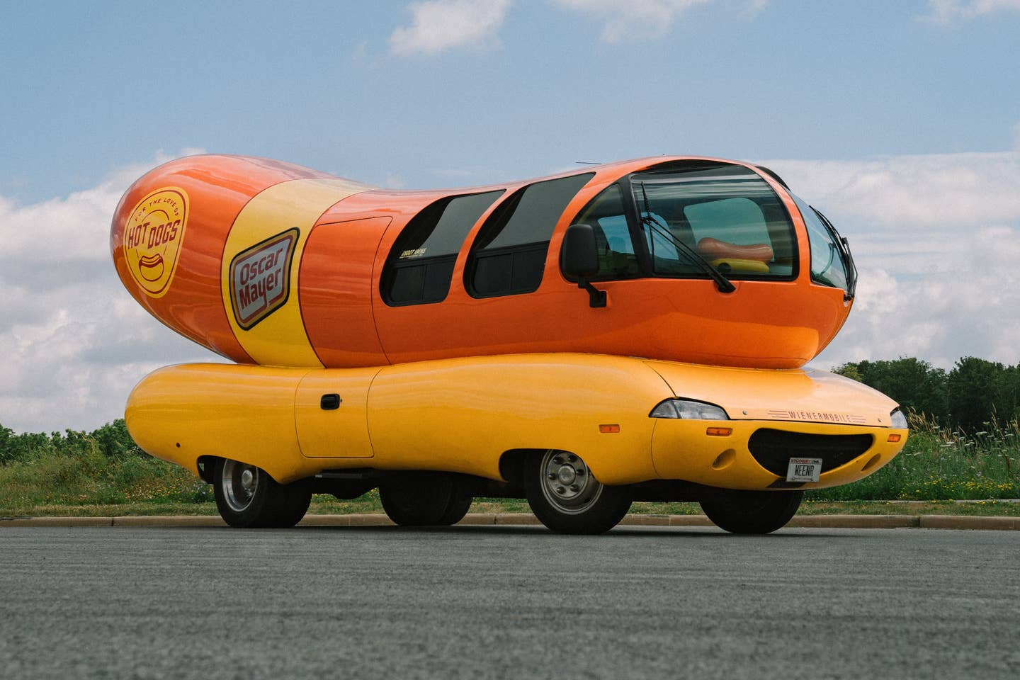 Weinermobile on the road