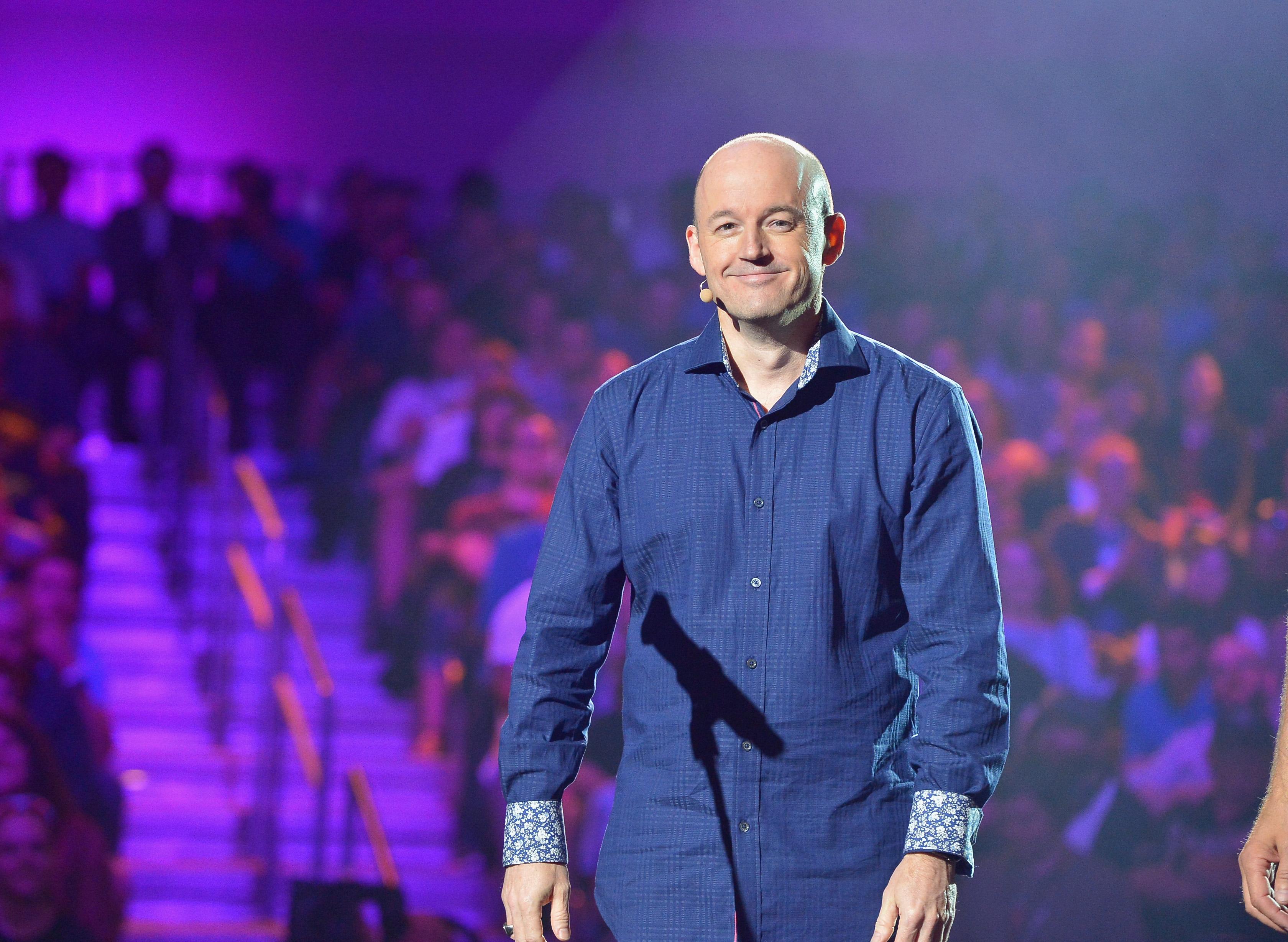 Tim Willits presents 'Rage 2' onstage at Bethesda Softworks' E3 2019 Showcase
