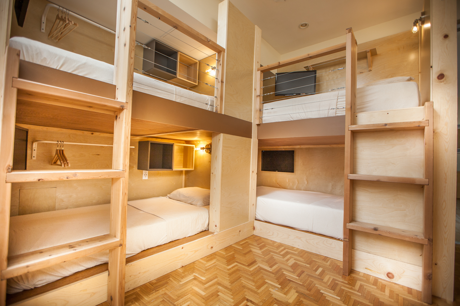Bunk beds in a San Francisco building.