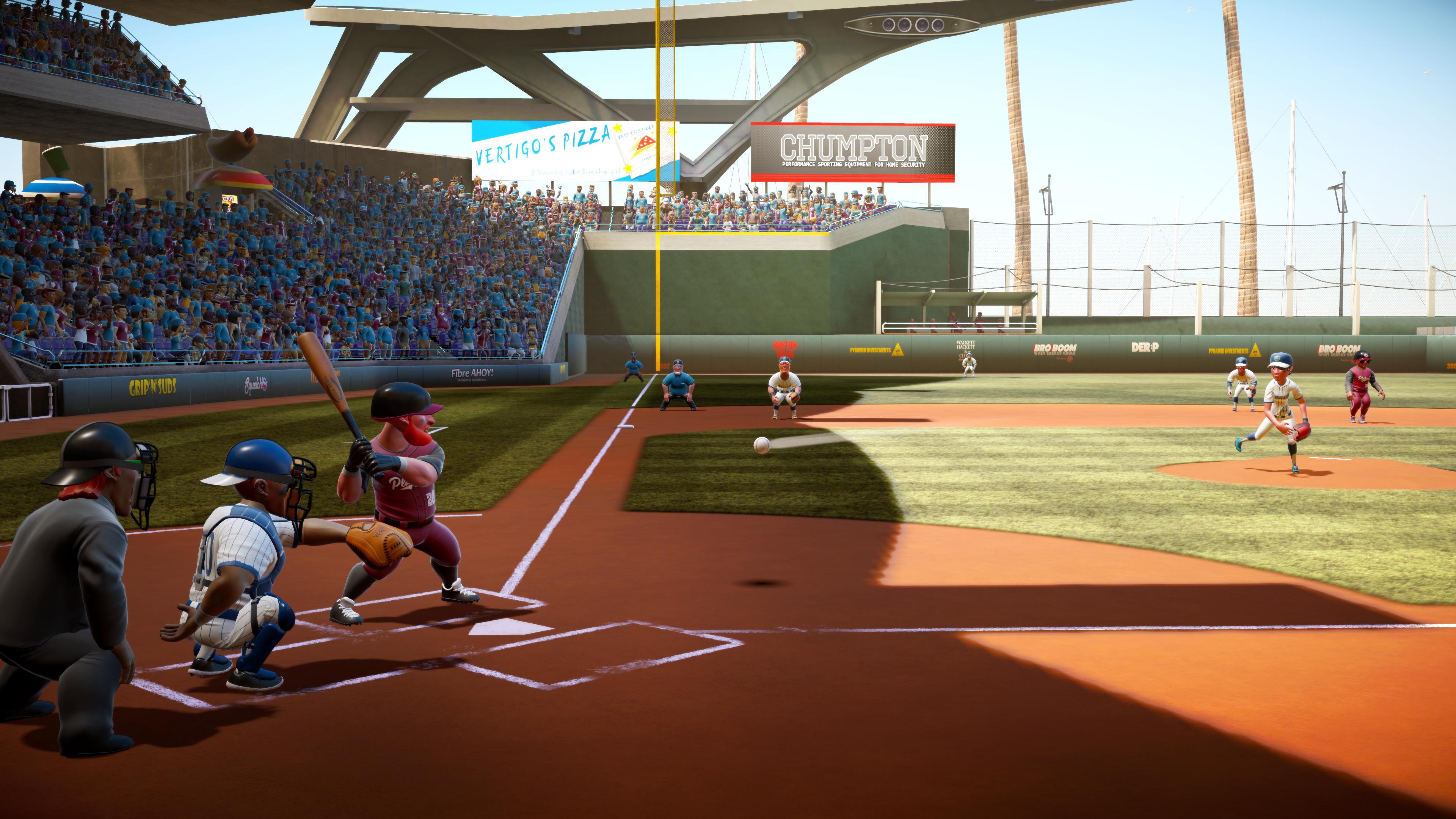 batter faces a pitch in Super Mega Baseball 2
