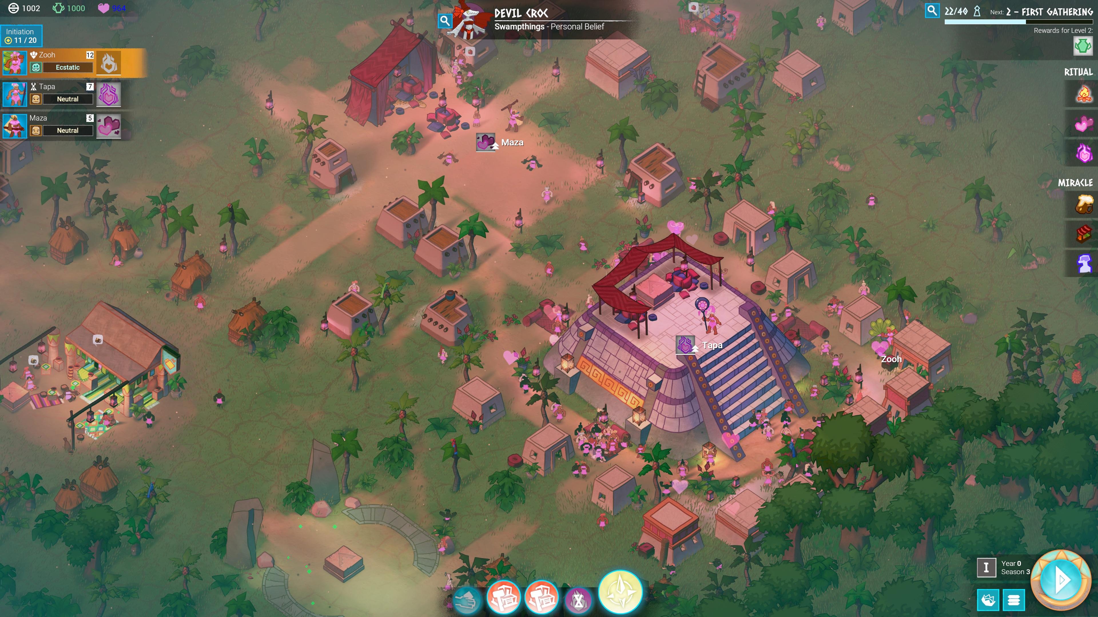 an overhead view of a ziggurat in Godhood