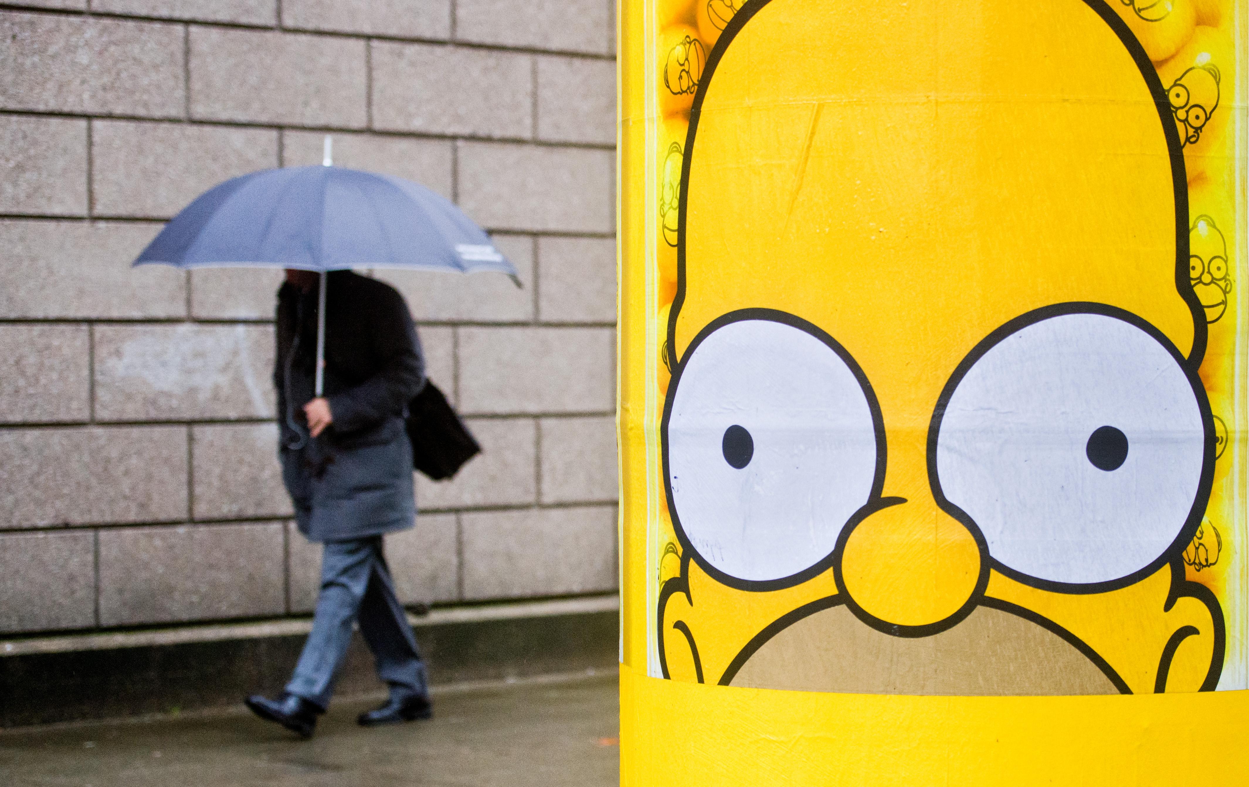 Rainy weather in Hanover