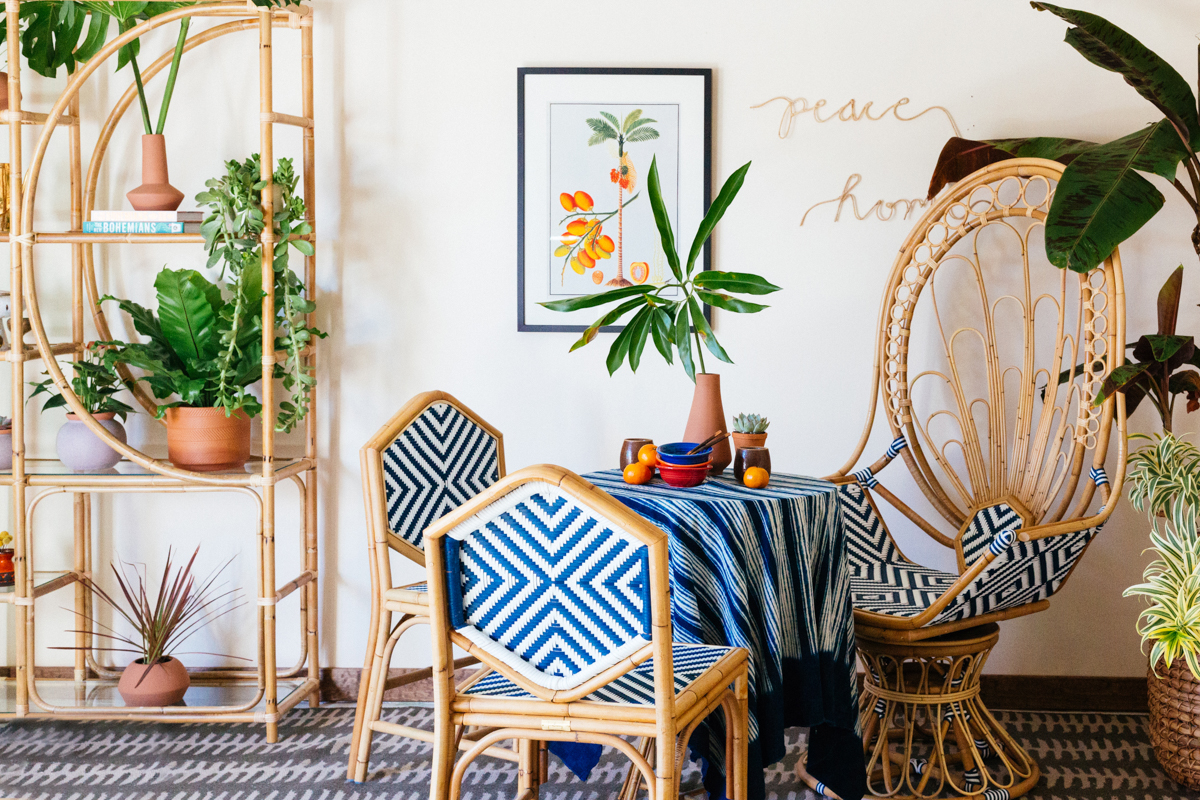Rattan furniture is everywhere because we all want to be on vacation