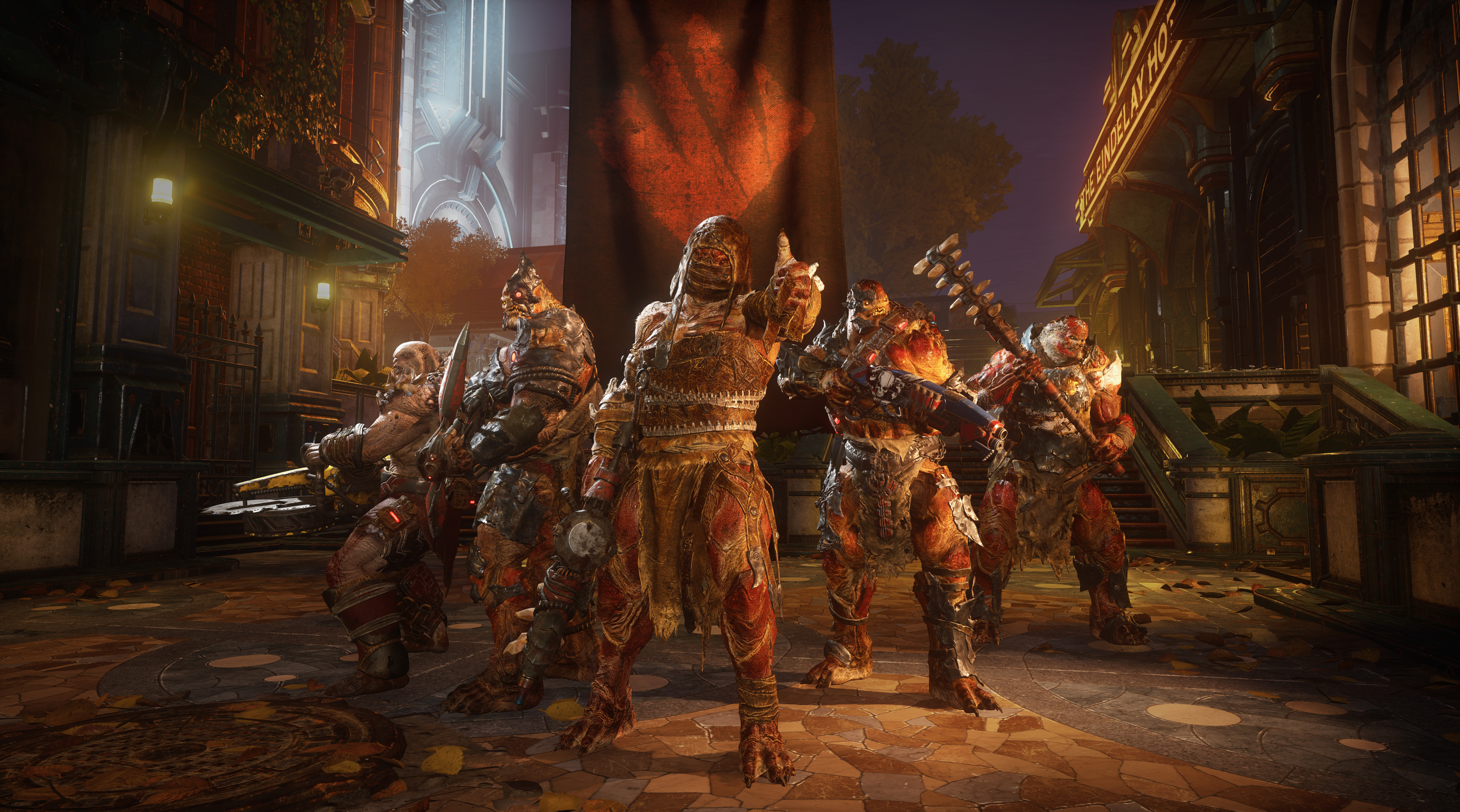 Locust enemies, part of the Swarm, as modeled in Gears 5. This image comes from the technical test, held July 2019, prior to the game's launch.