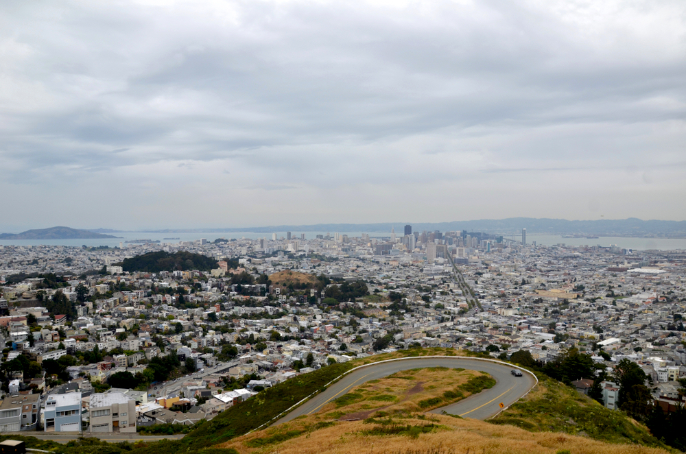 San Francisco as seen from Twin Peaks.