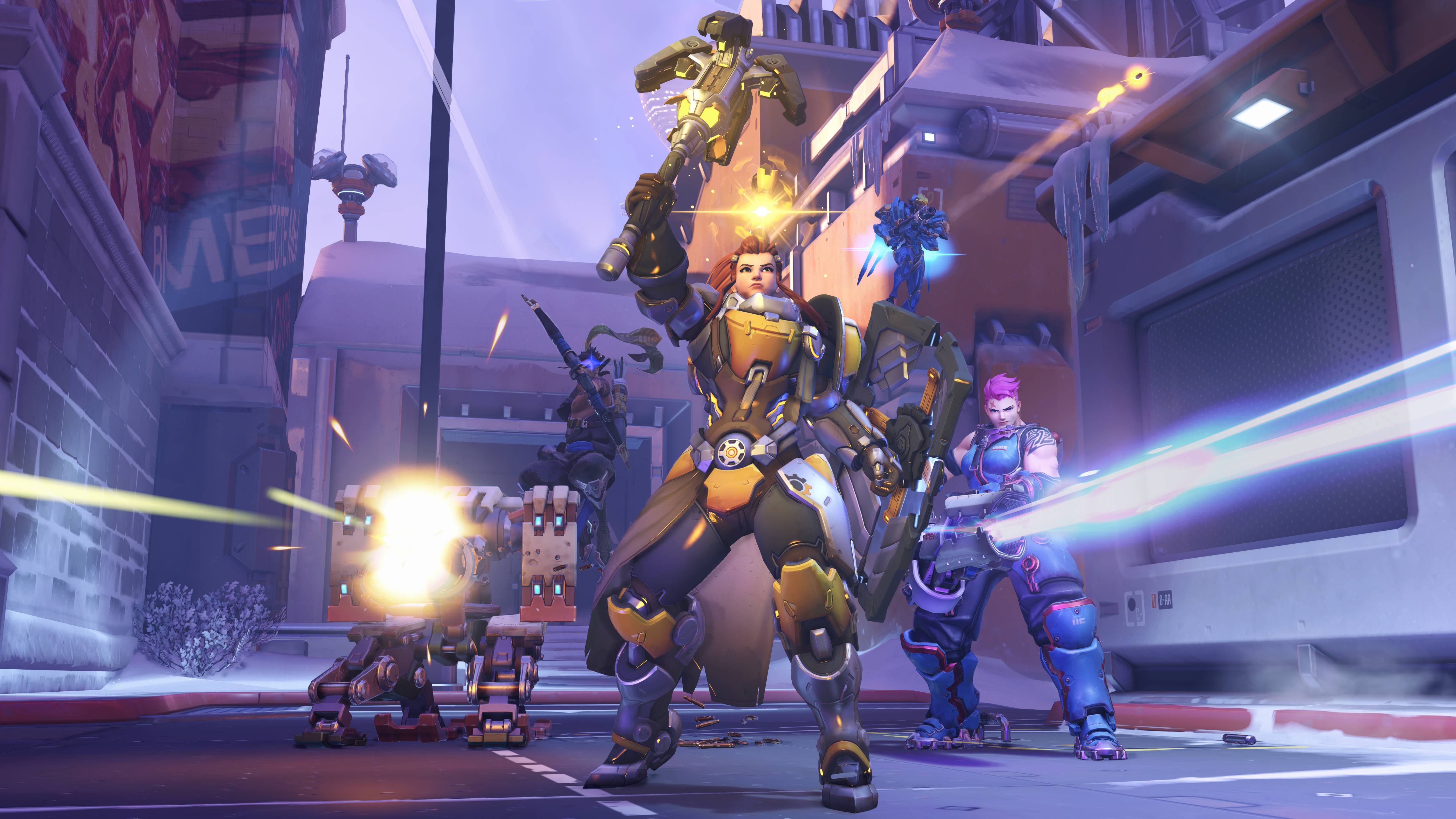 Overwatch - Brigitte rallies a team of heroes.