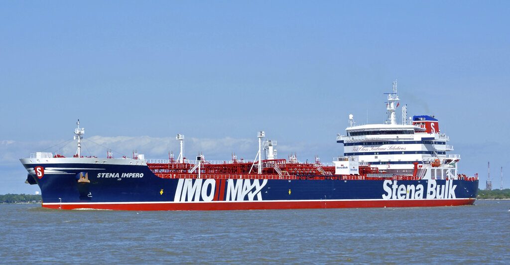 British oil tanker Stena Impero at an unknown location