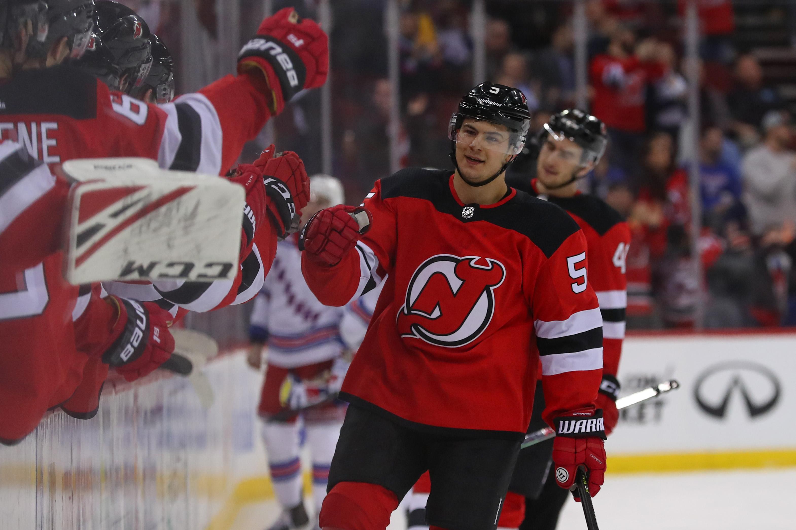 NHL: New York Rangers at New Jersey Devils