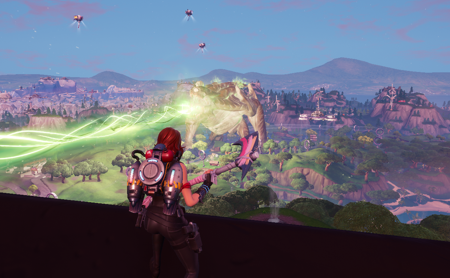 Fortnite's latest end-of-season event was a giant mecha vs. monster fight