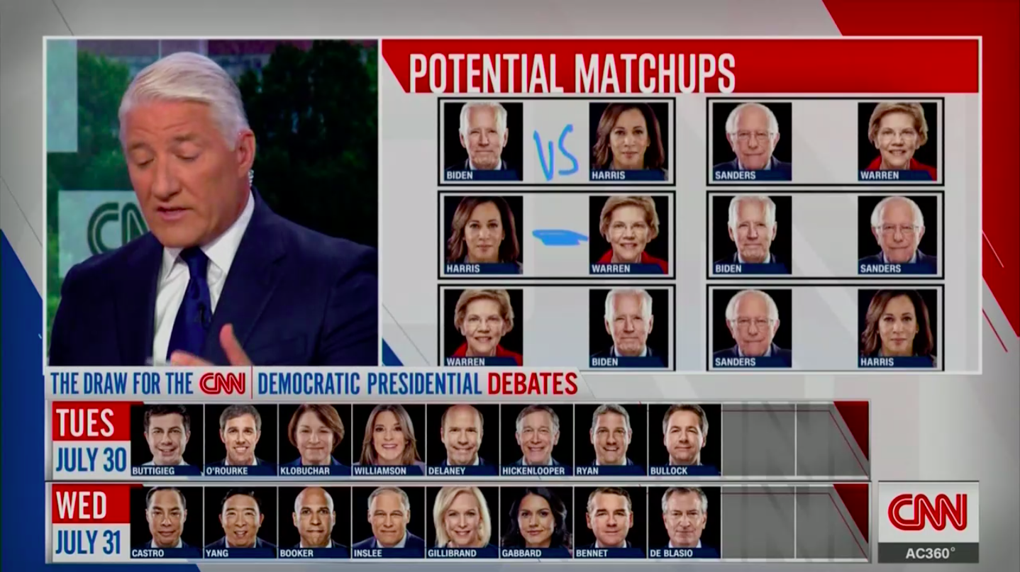 CNN hypes potential debate matchups on The Draw.