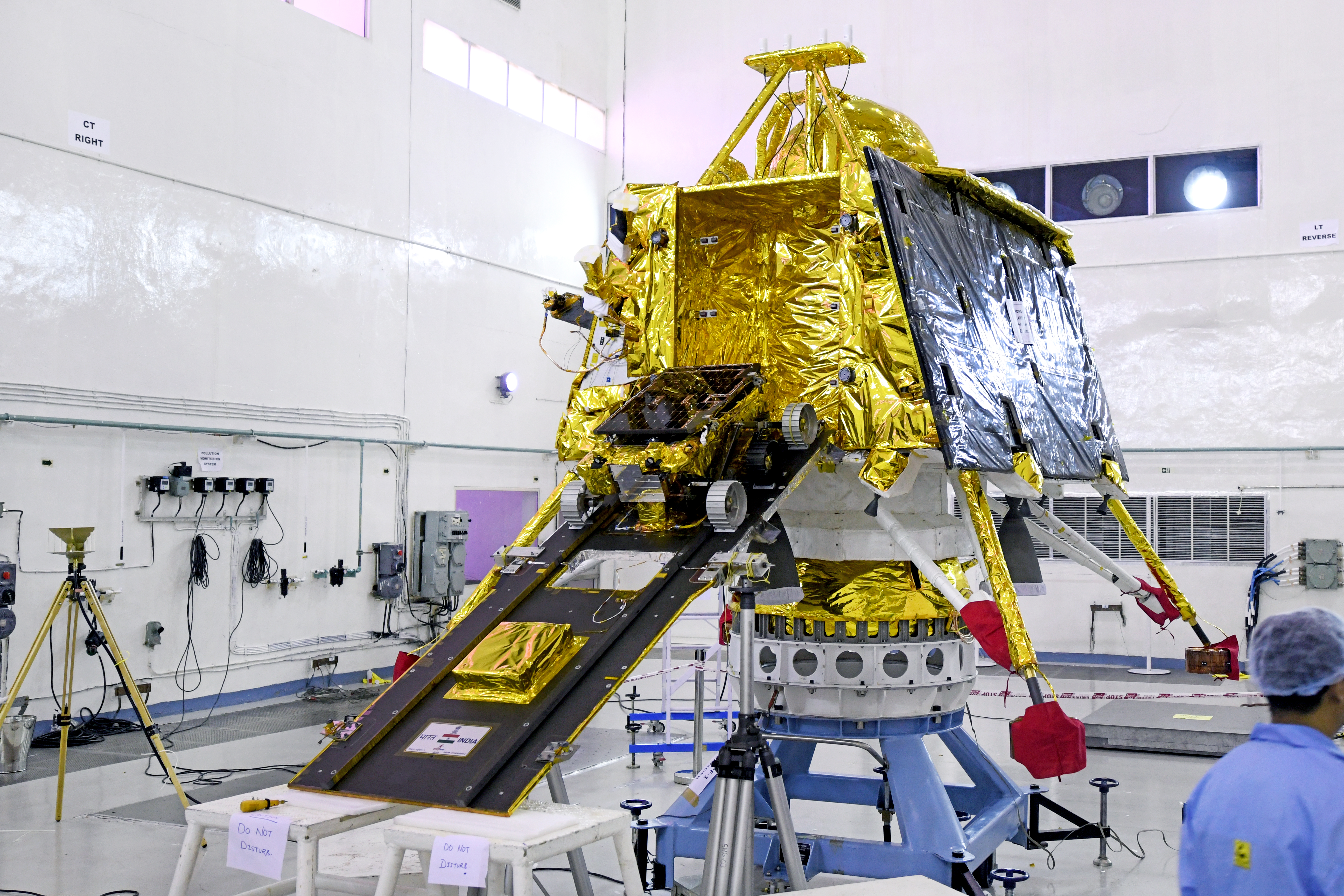 India's Vikram lander, with it the Pragyan rover, before launch