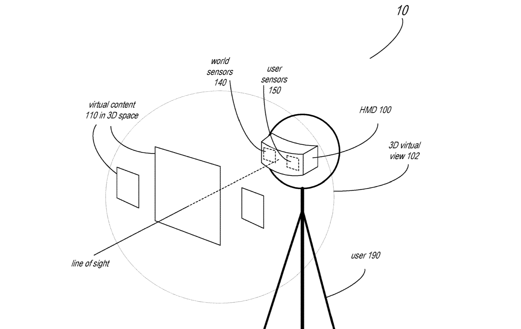 Apple patent for mixed reality HMD