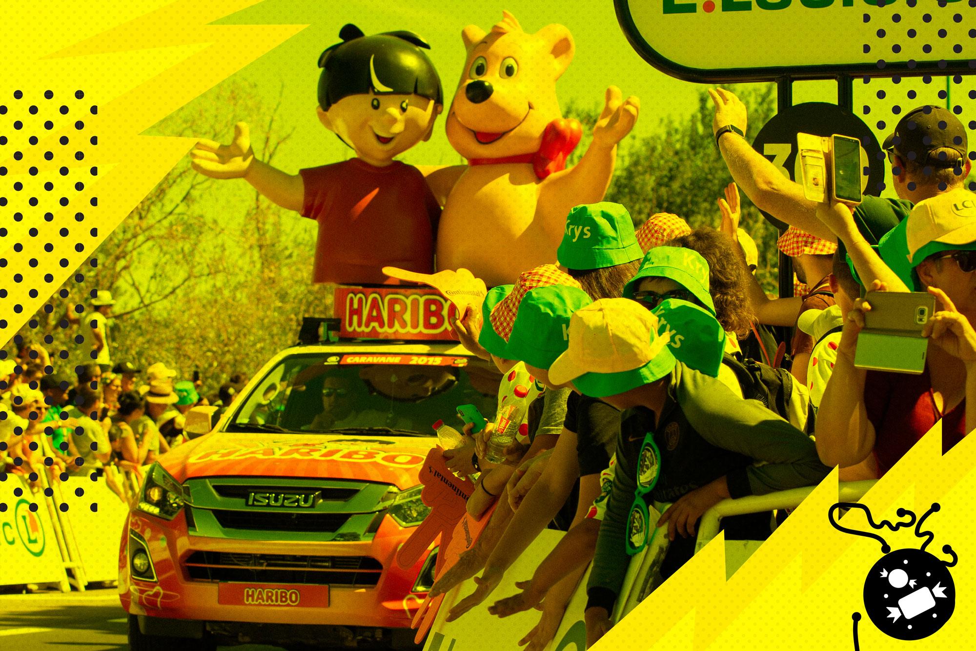 The Tour de France's weirdest tradition is a high-speed, candy-chucking parade