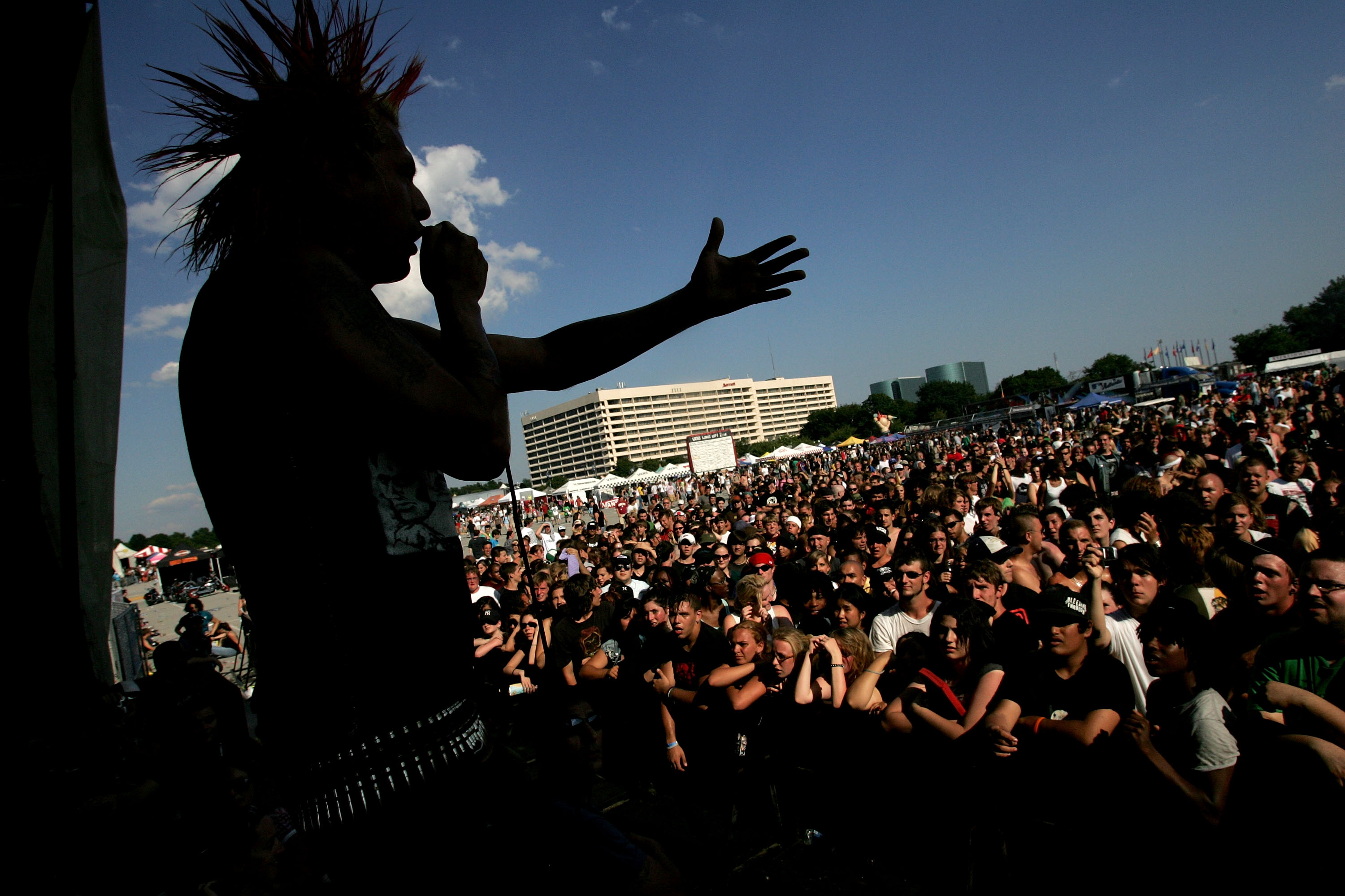 Jorge Rodrigo Herrera performs with his band The Casualties at Warped Tour 2006 in Uniondale, New York.