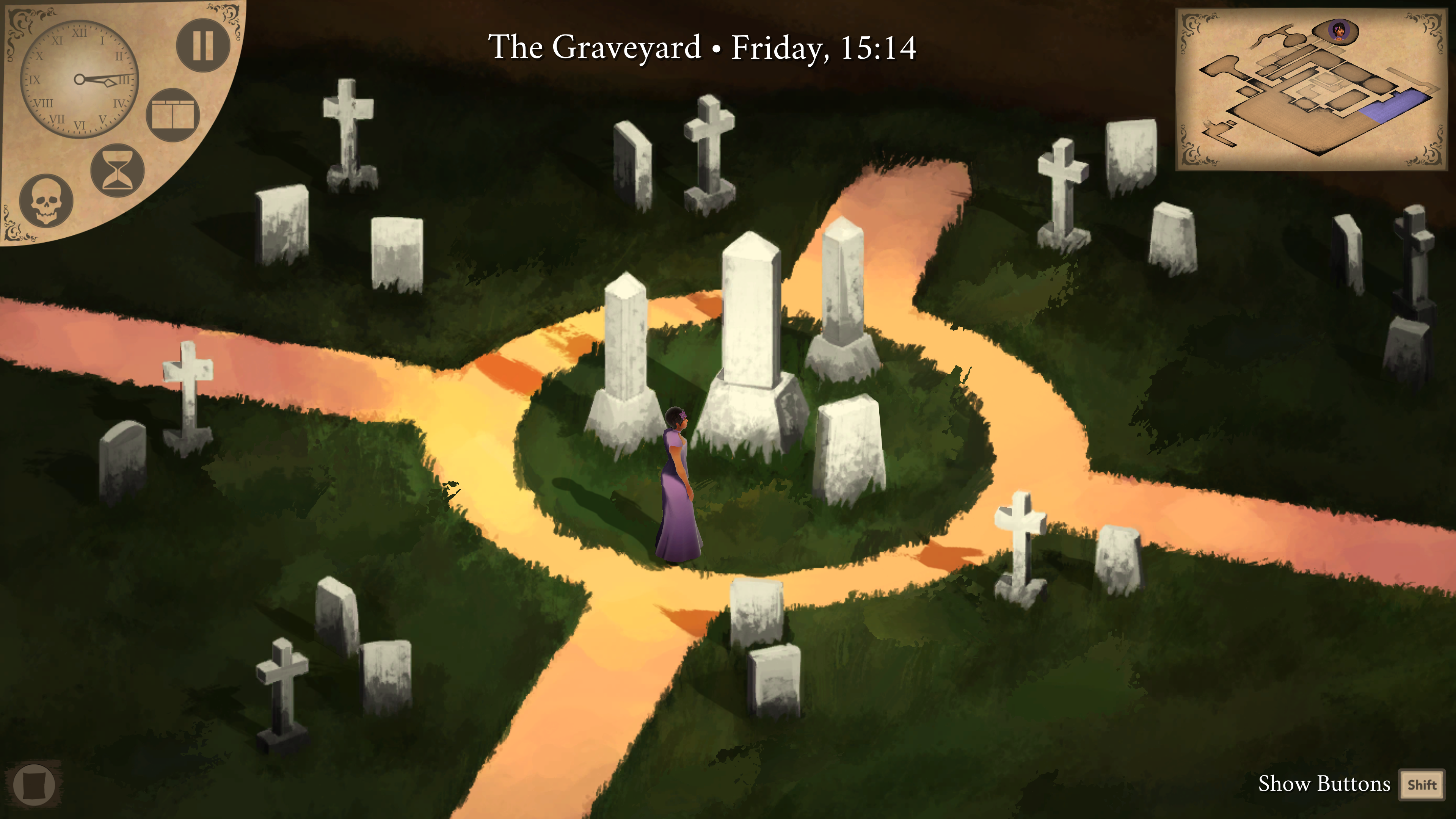 Elisnore - Ophelia visits the graveyard.
