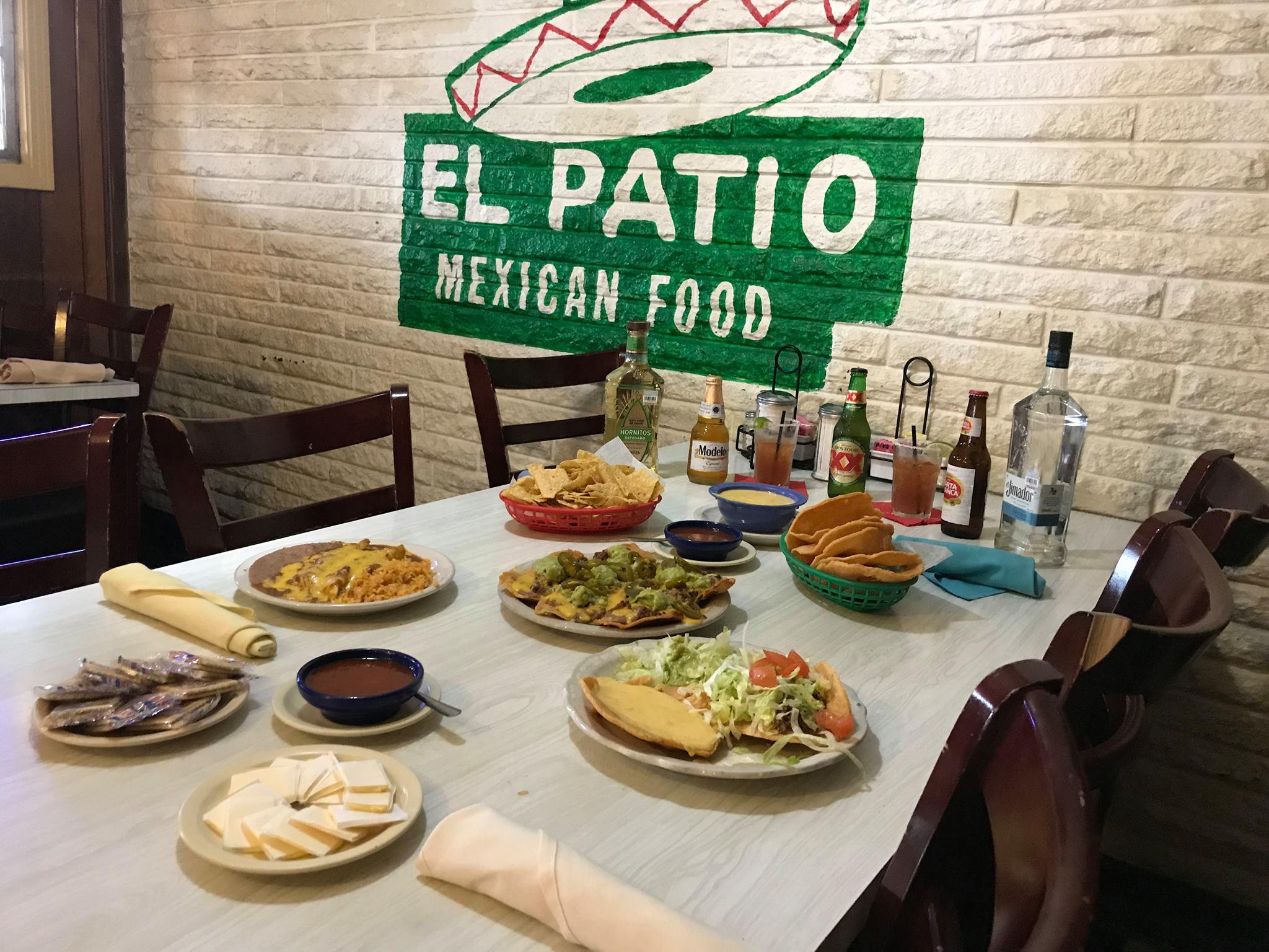 Tex-Mex dishes at El Patio